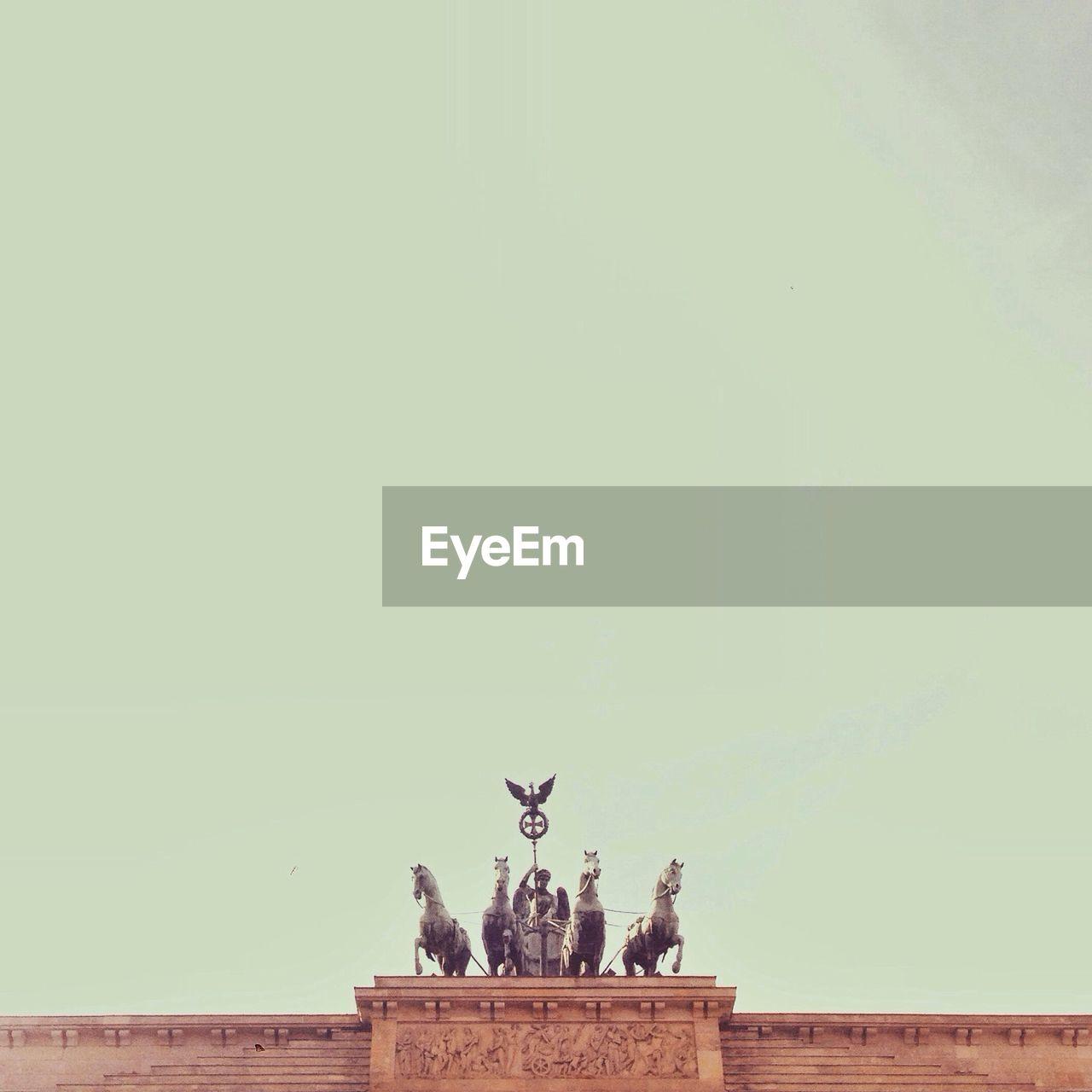 Statue On Top Of Brandenburg Gate