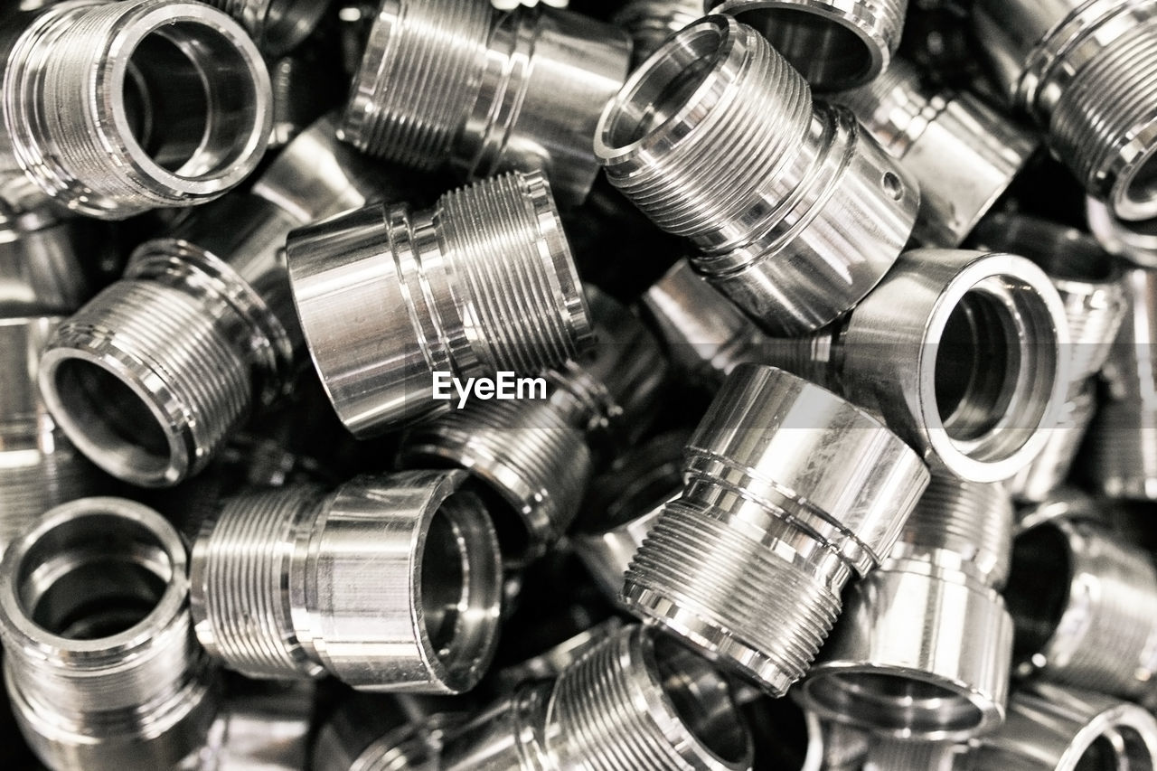 metal, silver colored, large group of objects, bolt, close-up, nut - fastener, steel, screw, alloy, no people, abundance, equipment, full frame, still life, technology, backgrounds, industry, shiny, silver - metal, indoors