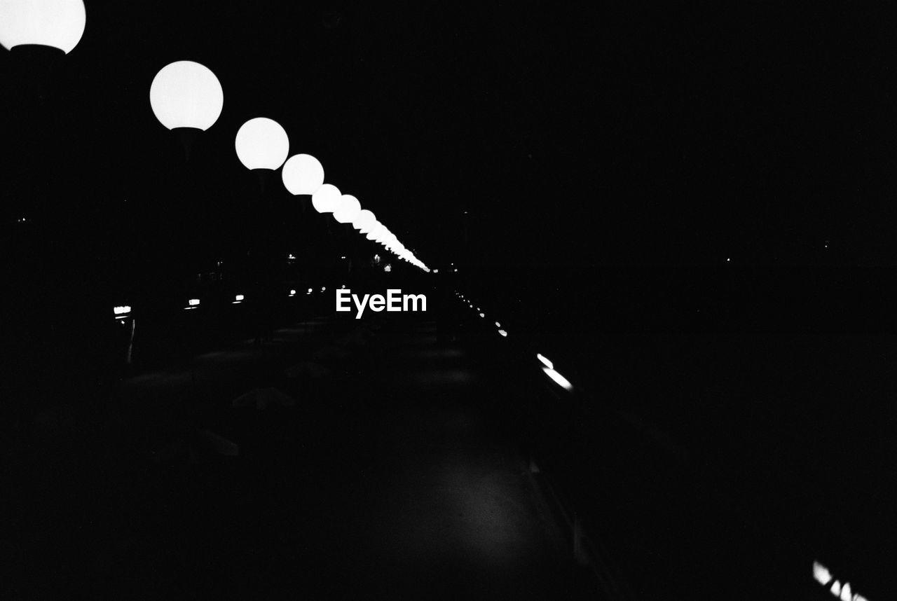 illuminated, night, no people, outdoors