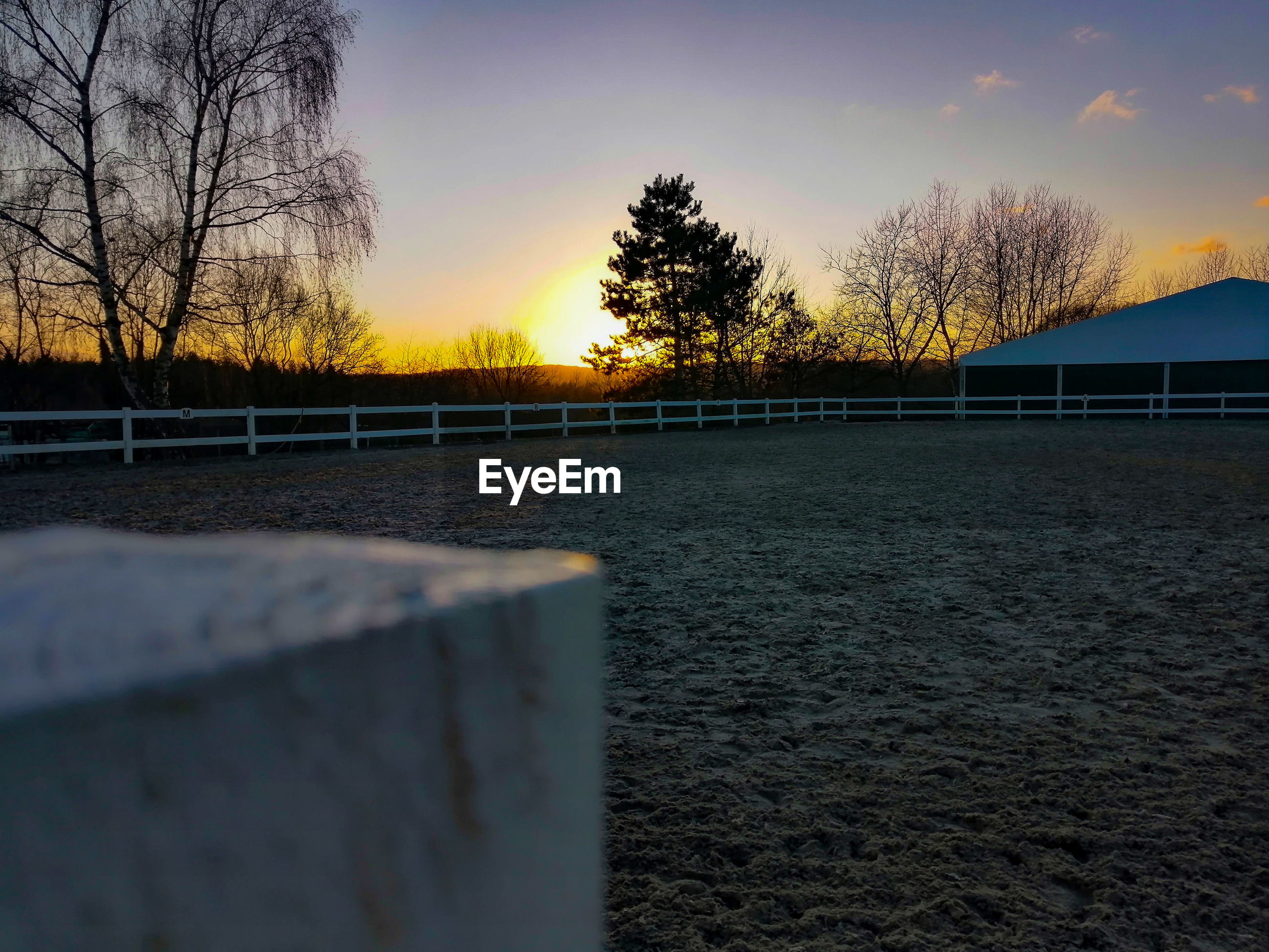 Sonnenuntergang am reiterhof