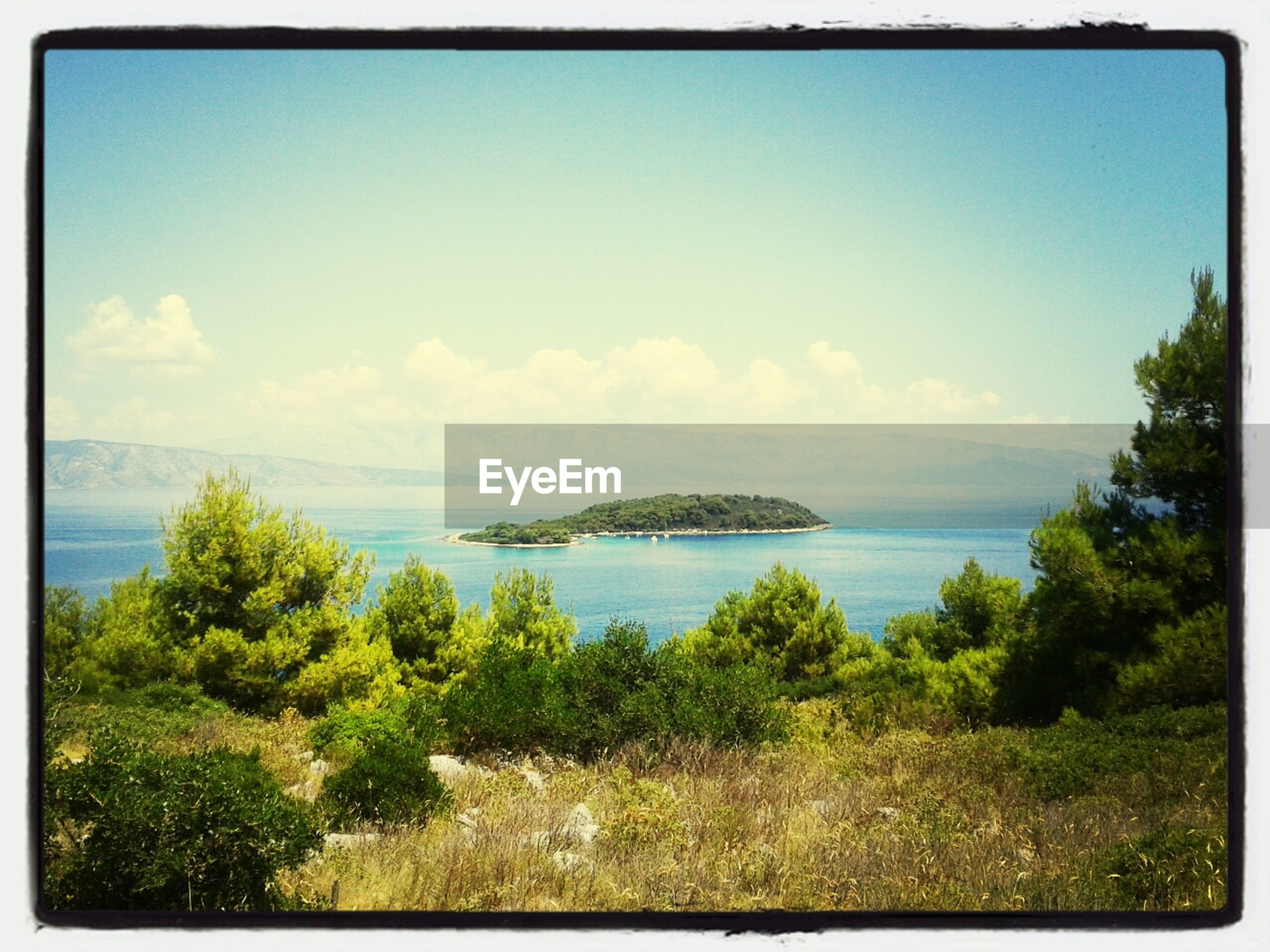 Distant shot of island