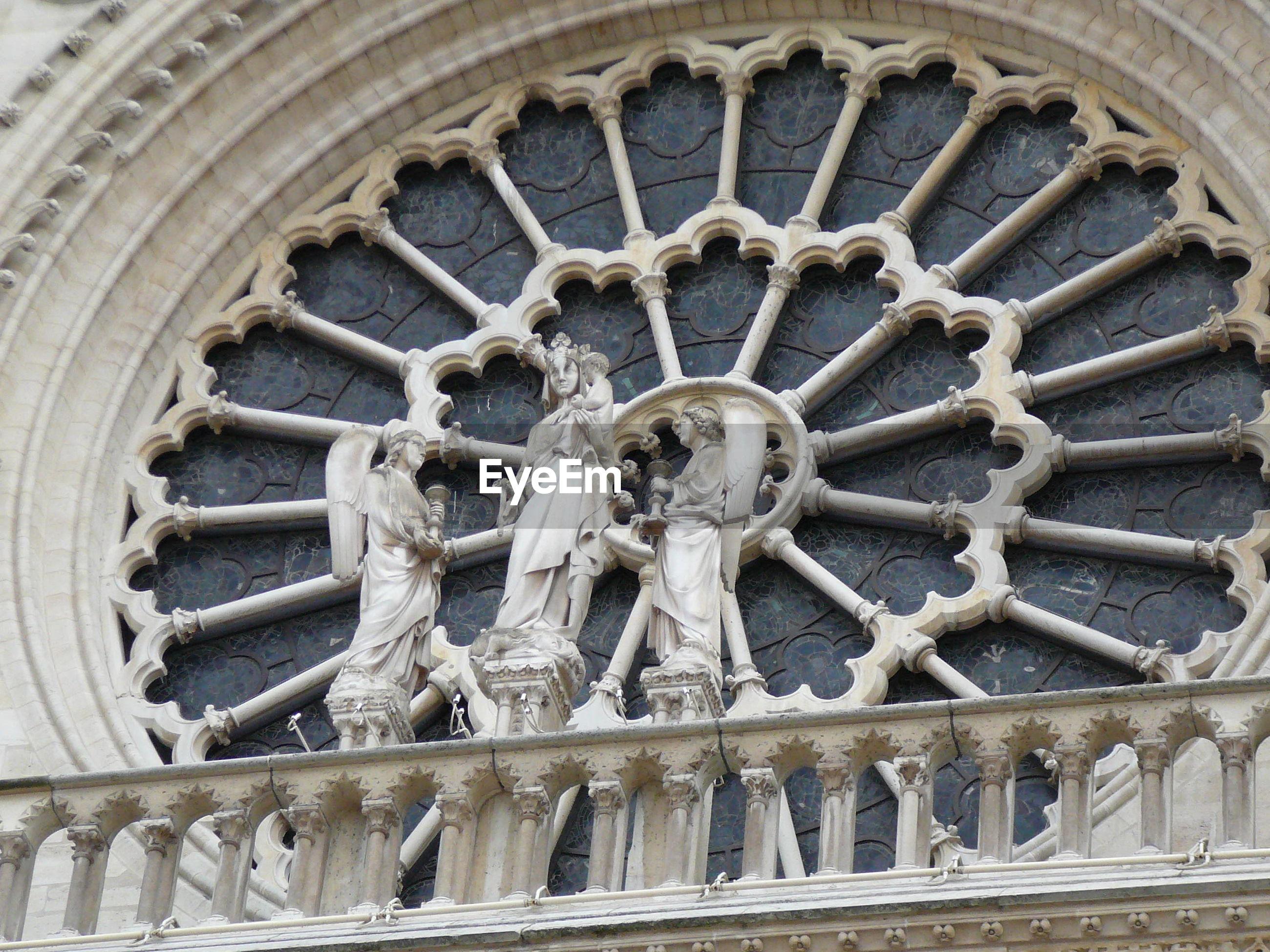 Low angle view of notre dame de paris