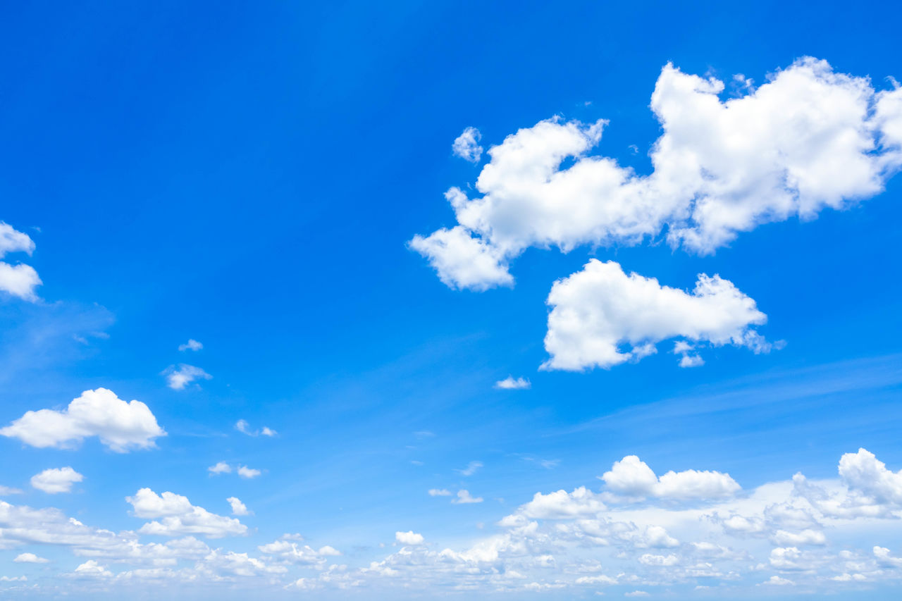 cloud - sky, sky, blue, nature, beauty in nature, scenics, day, low angle view, backgrounds, tranquility, sky only, white color, no people, tranquil scene, outdoors, full frame