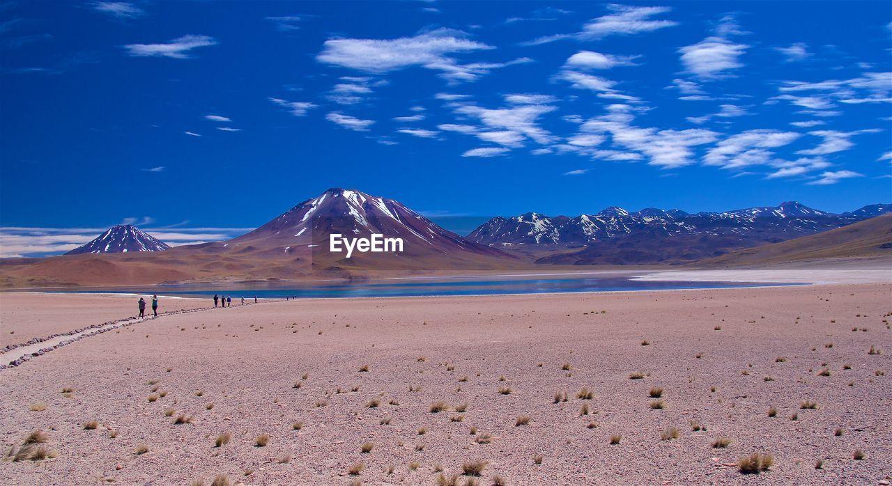 View Of Desert Against Blue Sky