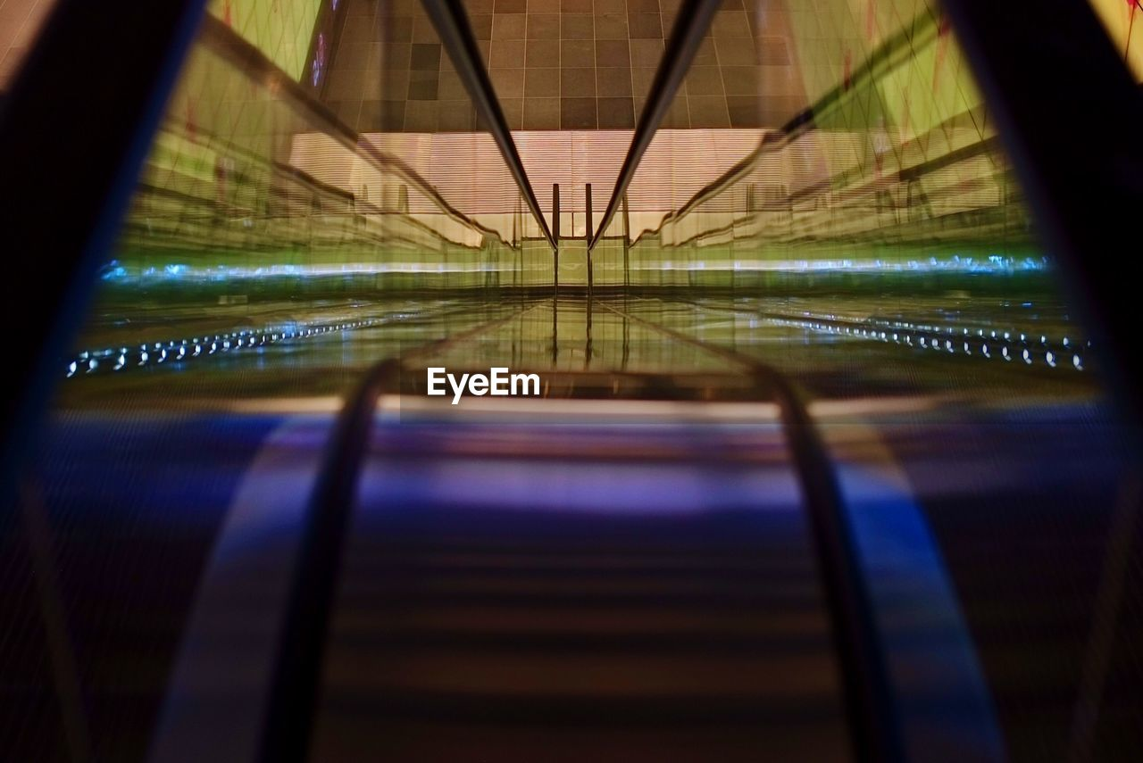 illuminated, lighting equipment, reflection, indoors, no people, bridge - man made structure, night, architecture, close-up