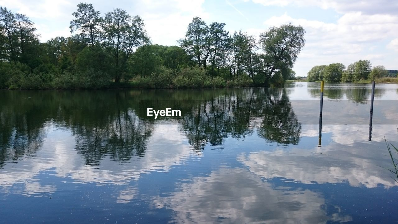 reflection, water, tree, lake, nature, sky, outdoors, tranquility, beauty in nature, tranquil scene, waterfront, scenics, no people, day