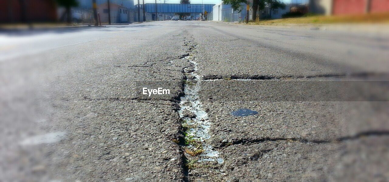 Surface level of street