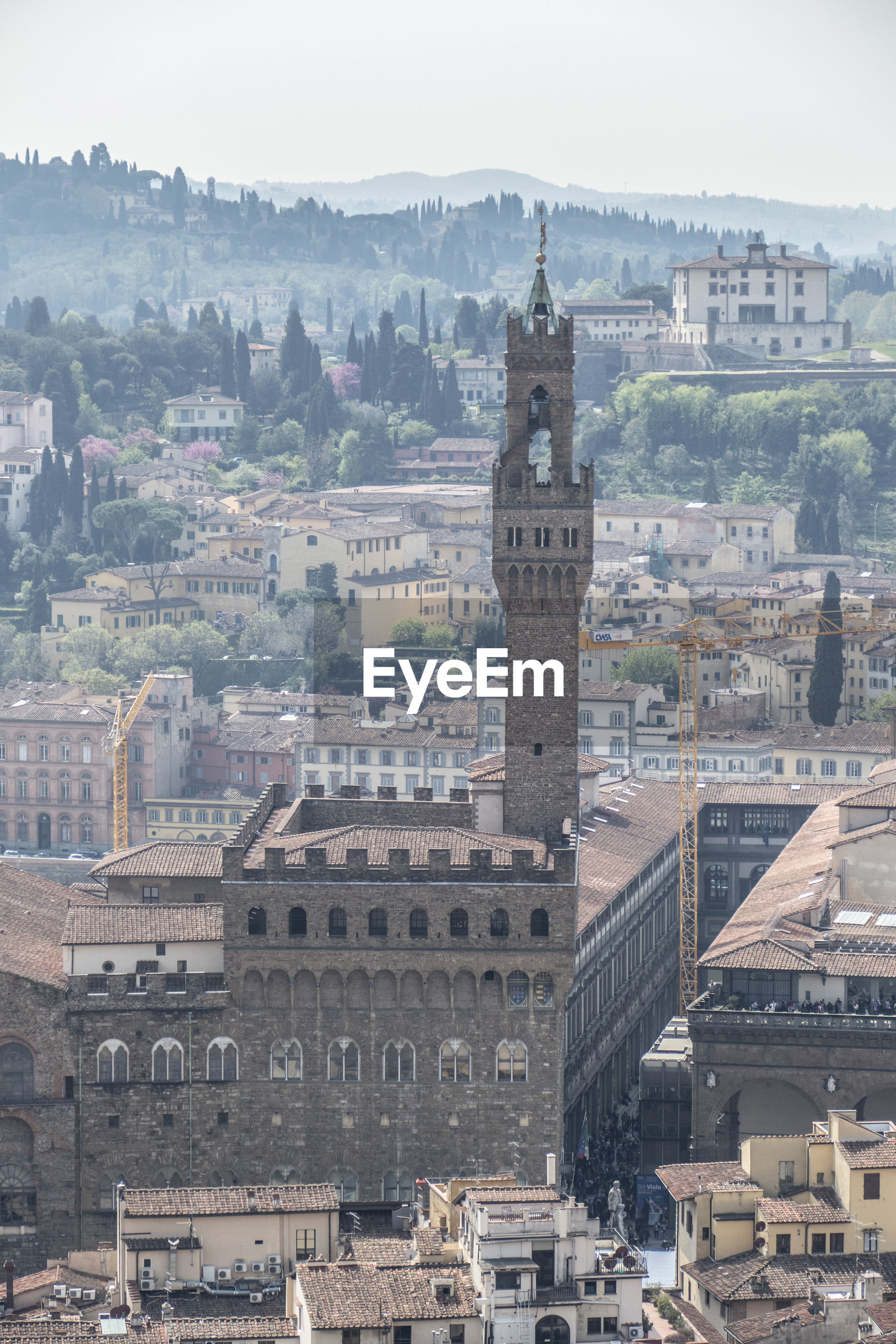 Palazzo vecchio of florence seen from above