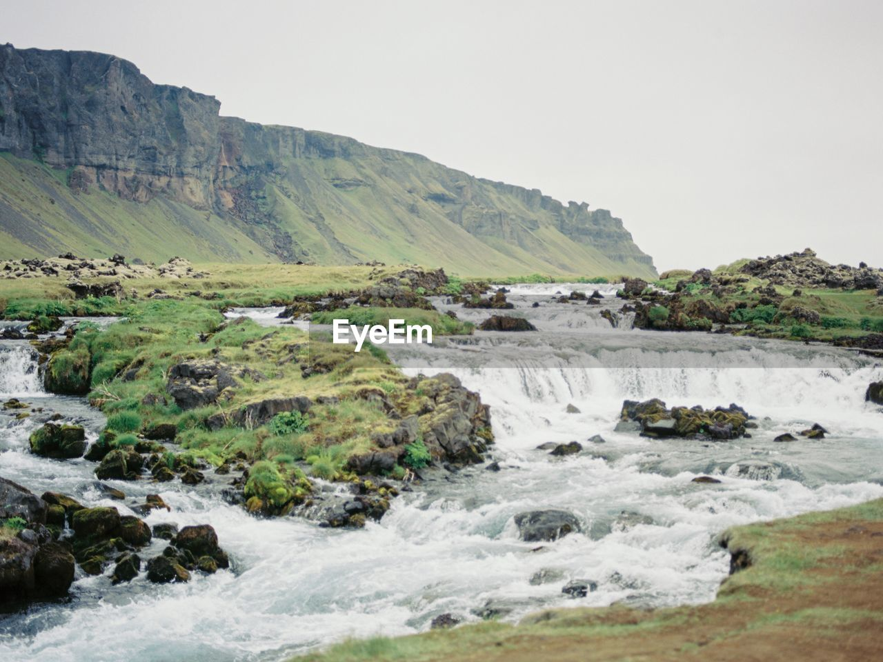 SCENIC VIEW OF WATERFALL LANDSCAPE