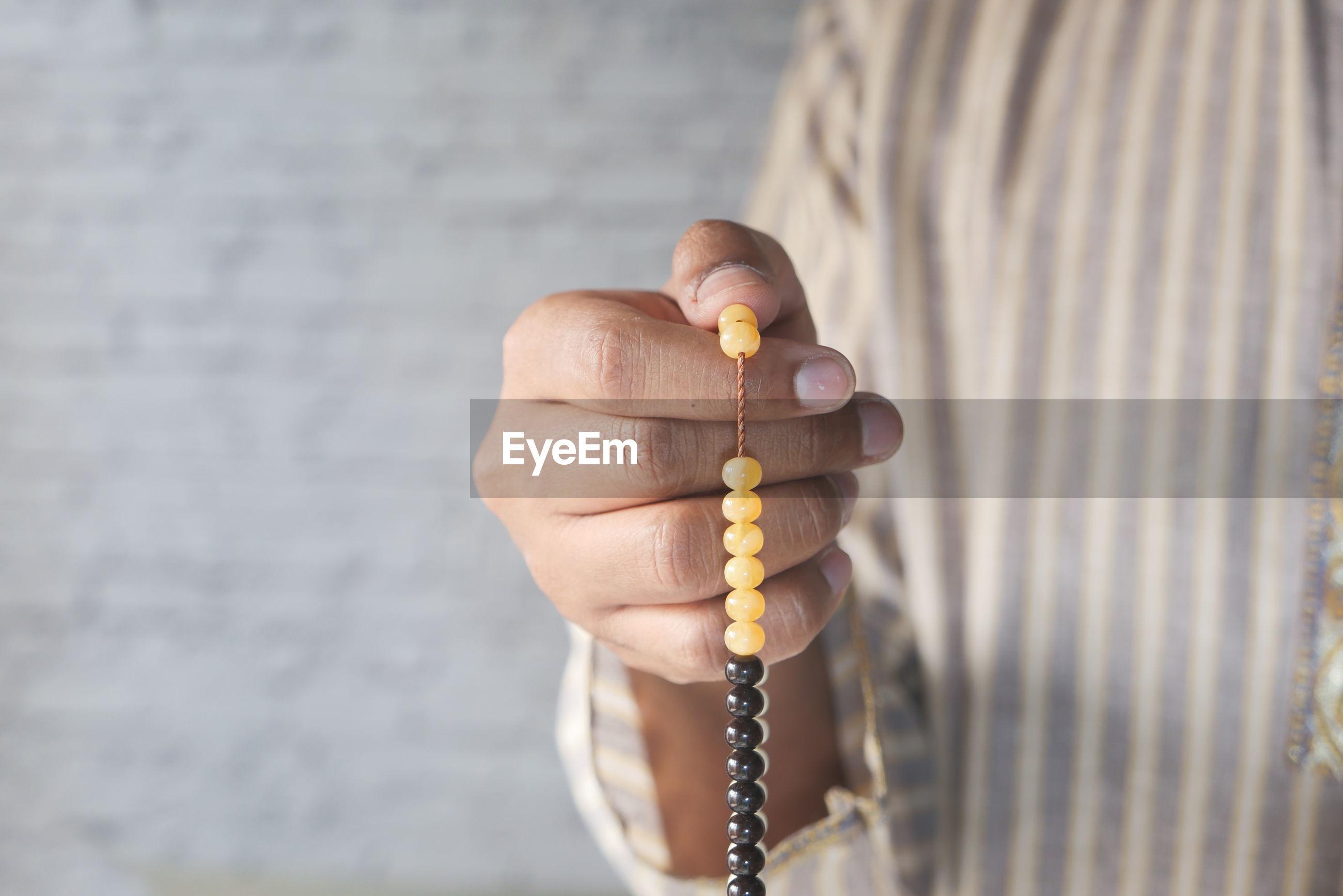 Muslim man praying during ramadan . person