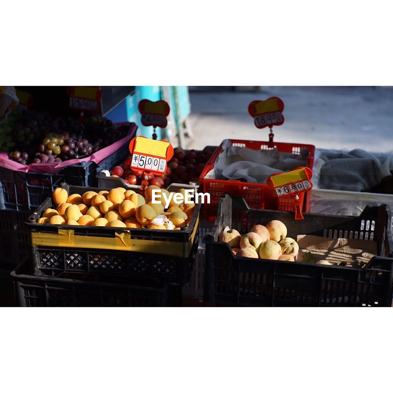 fruit, freshness, retail, food and drink, market stall, for sale, variation, healthy eating, price tag, food, market, choice, pear, consumerism, no people, day, outdoors