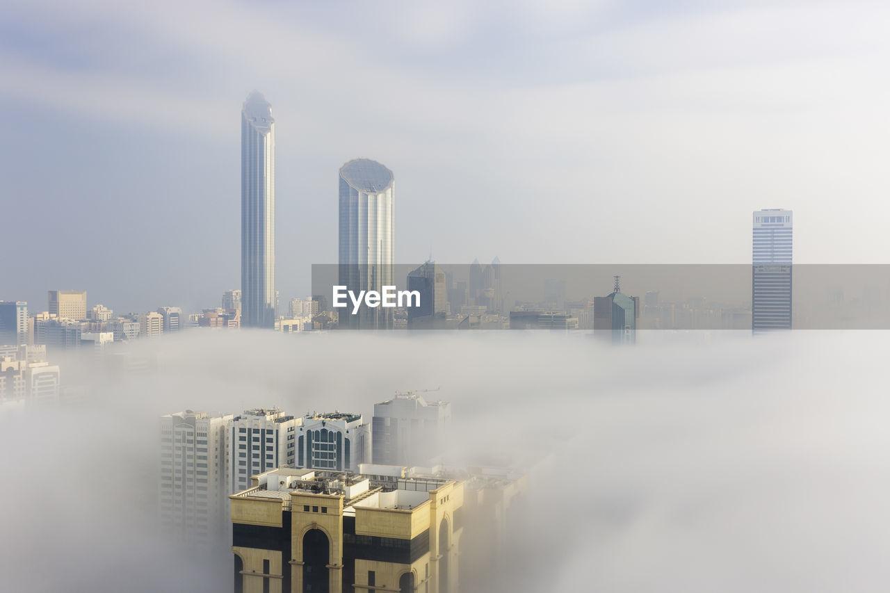 Foggy morning over abu dhabi