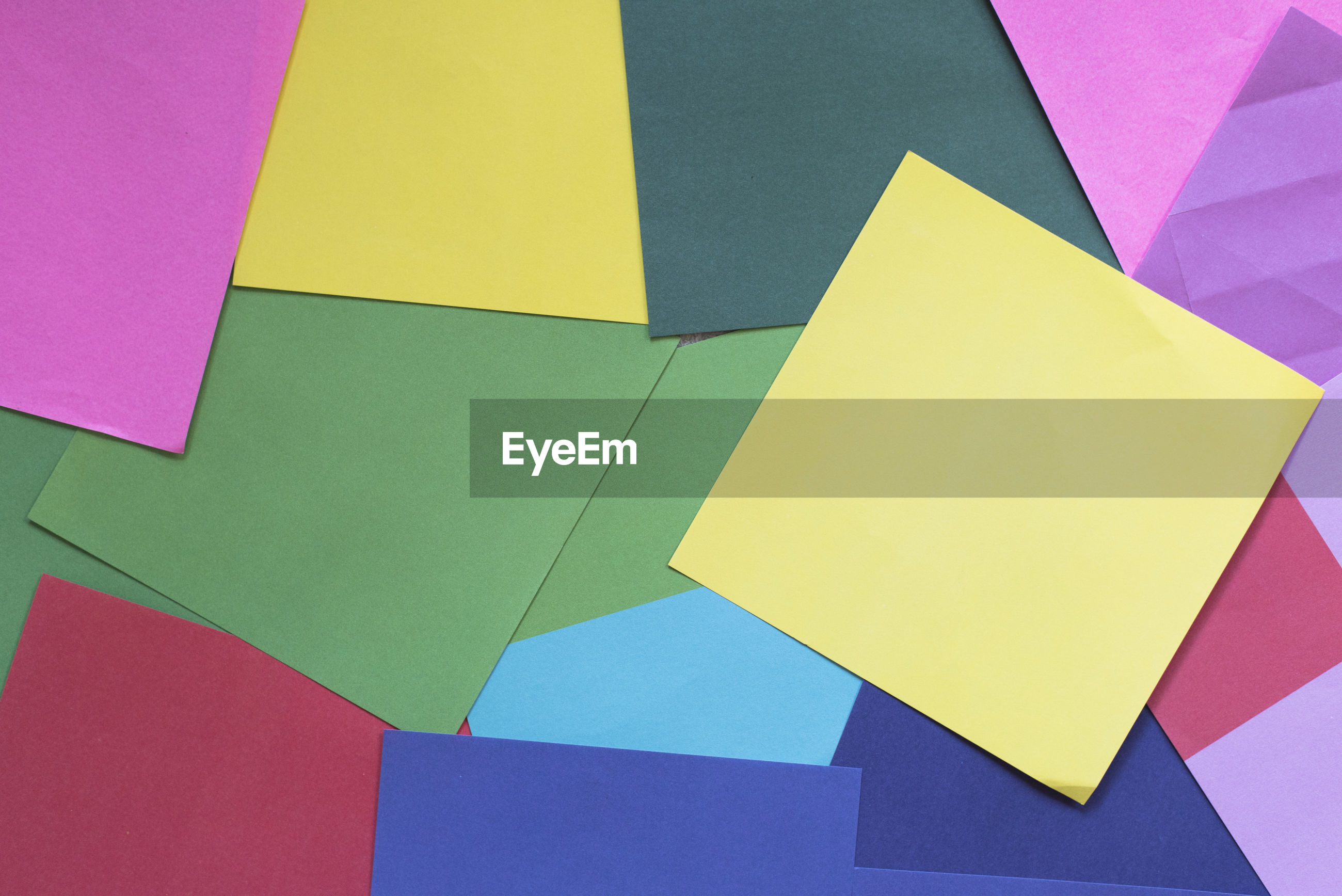 Close-up of colorful paper