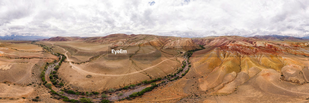 . beautiful view of the sand canyon, quarry on a warm summer day from a bird's eye view.