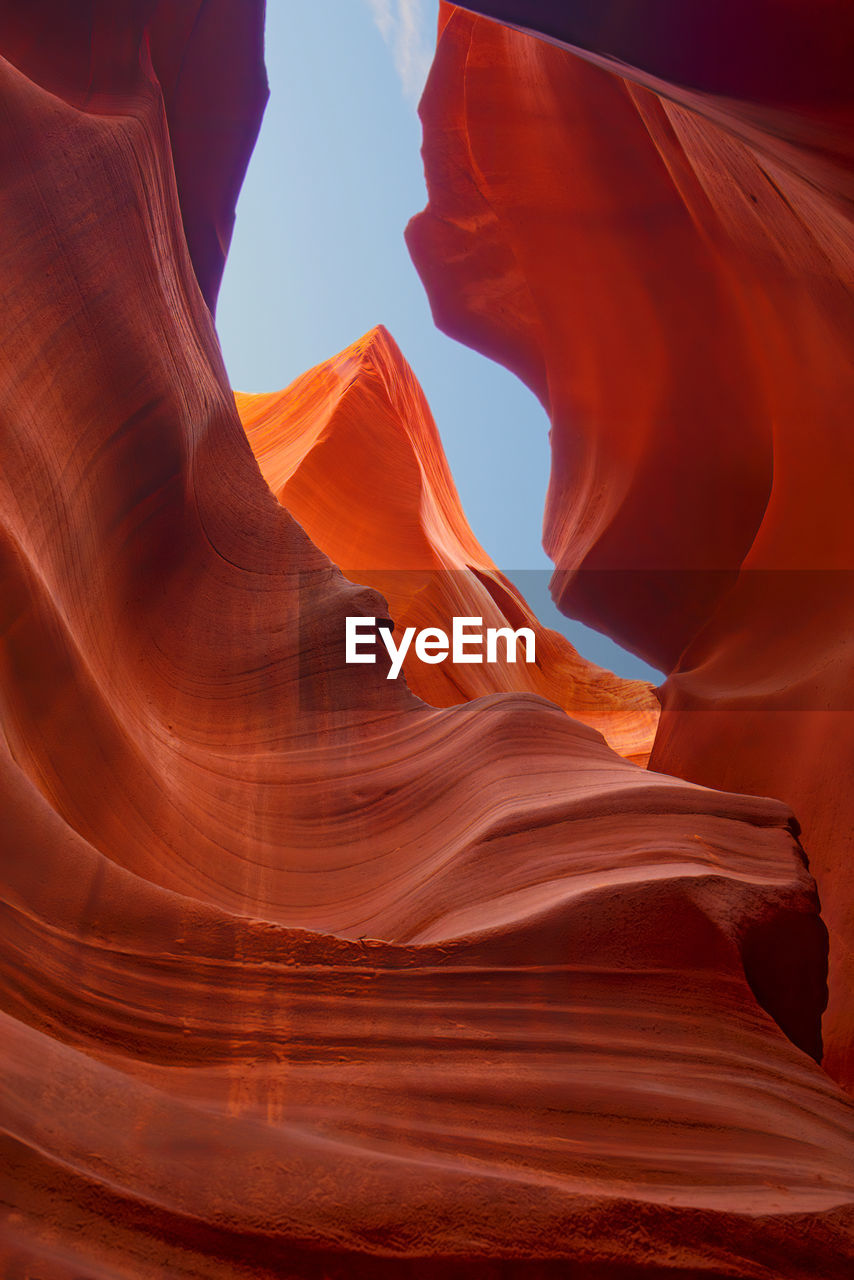 Rock formations in antelope canyon