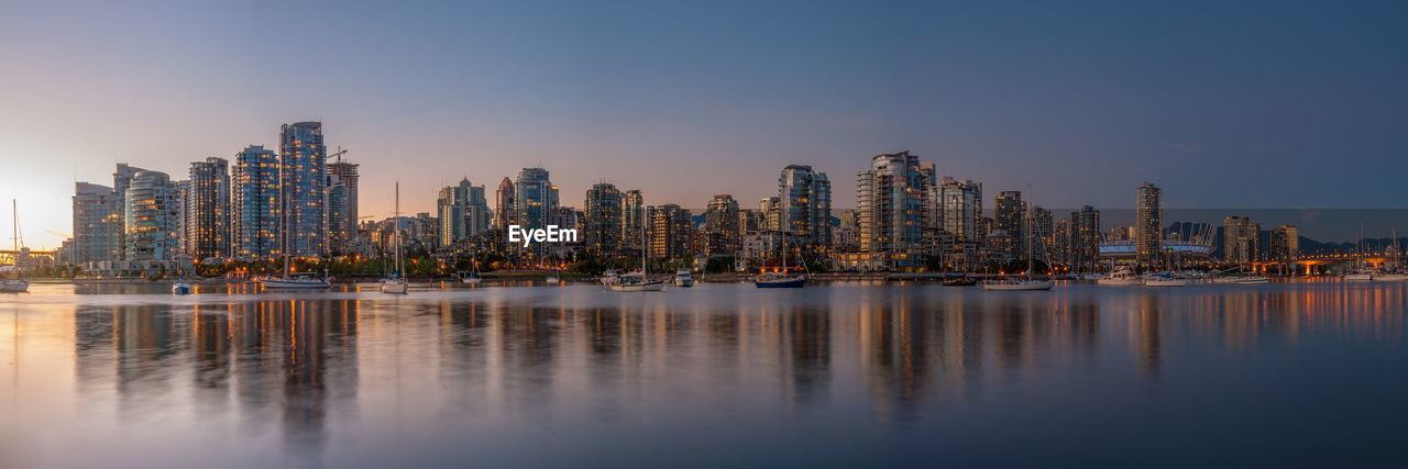 Panoramic View Of Vancouver Cityscape