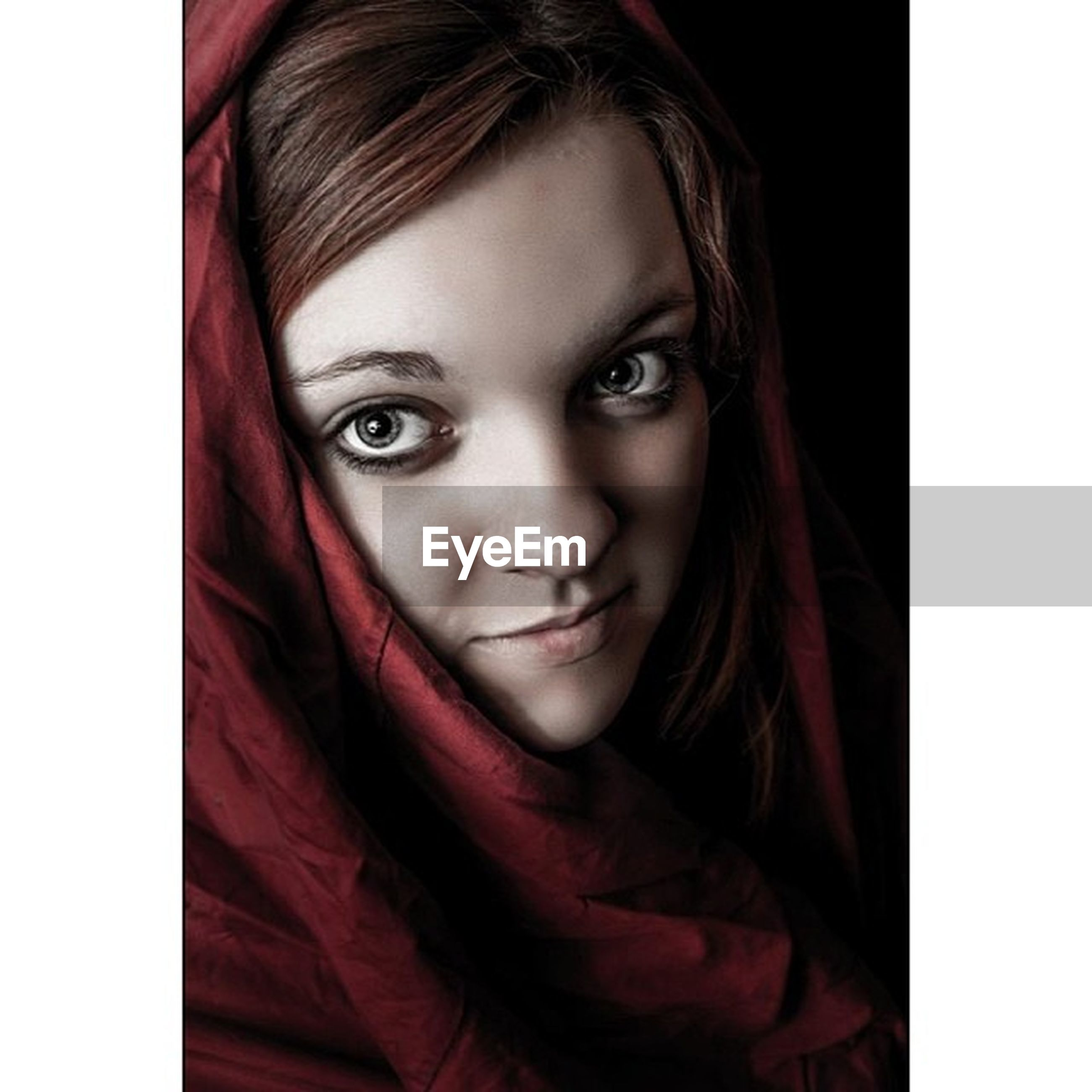 portrait, looking at camera, young women, young adult, person, transfer print, front view, long hair, headshot, auto post production filter, indoors, lifestyles, smiling, close-up, beauty, studio shot, leisure activity