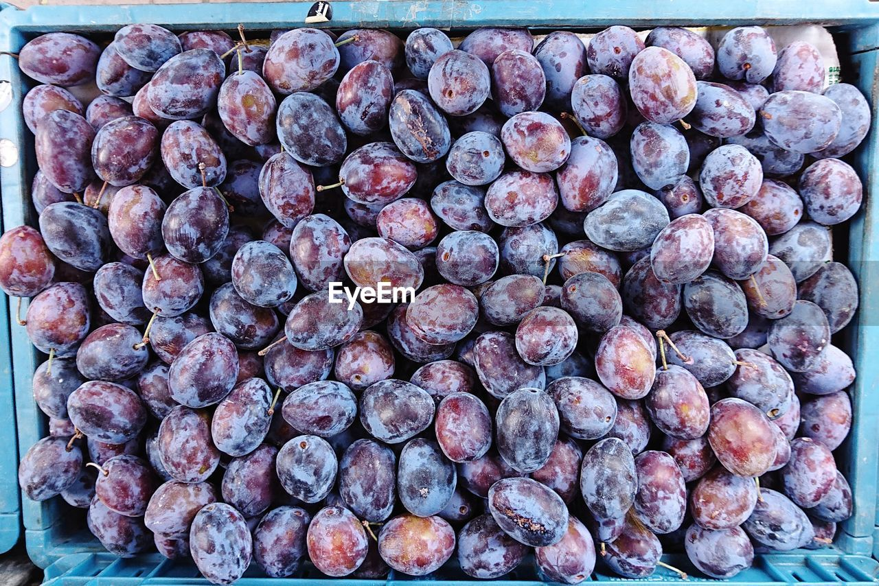 food and drink, food, healthy eating, wellbeing, large group of objects, freshness, still life, abundance, no people, fruit, close-up, high angle view, day, purple, for sale, transfer print, outdoors, market, retail, heap, ripe