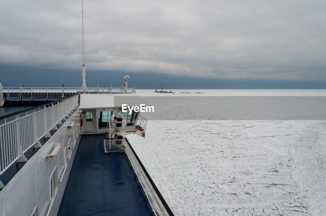 PIER AT SEA AGAINST SKY