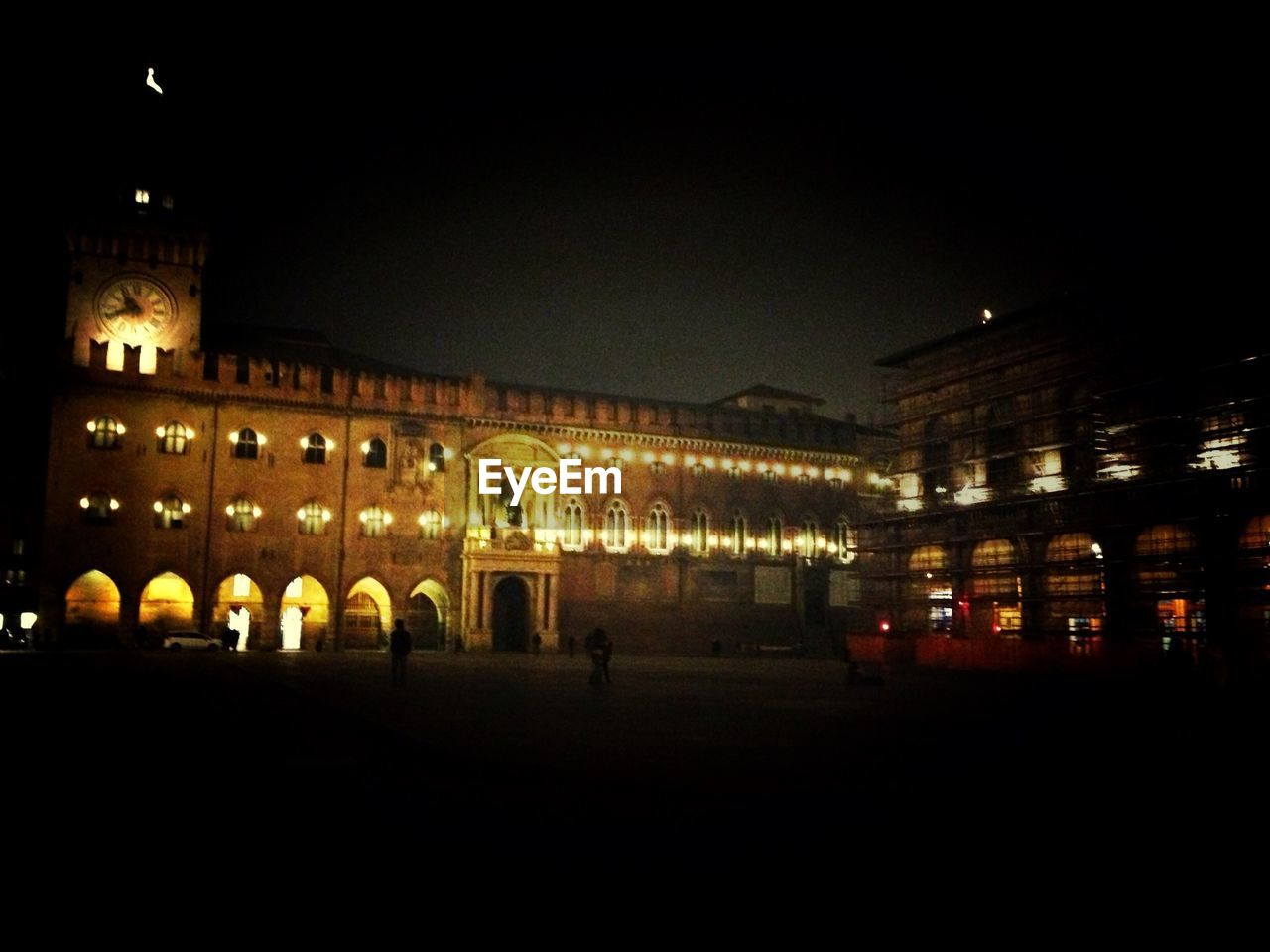 Scenic View Of Old Building At Night