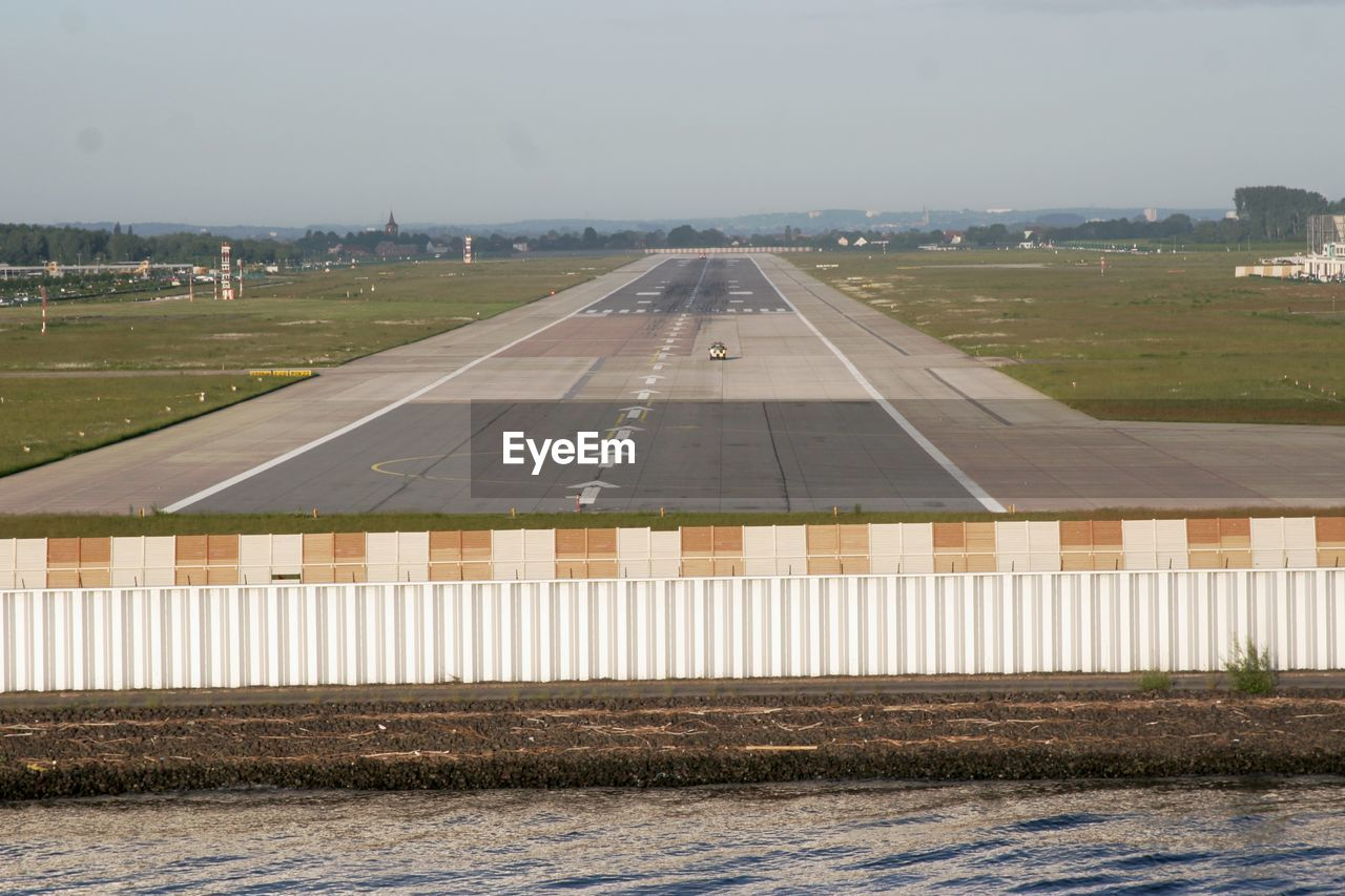 day, no people, outdoors, sky, airplane, airport runway, nature
