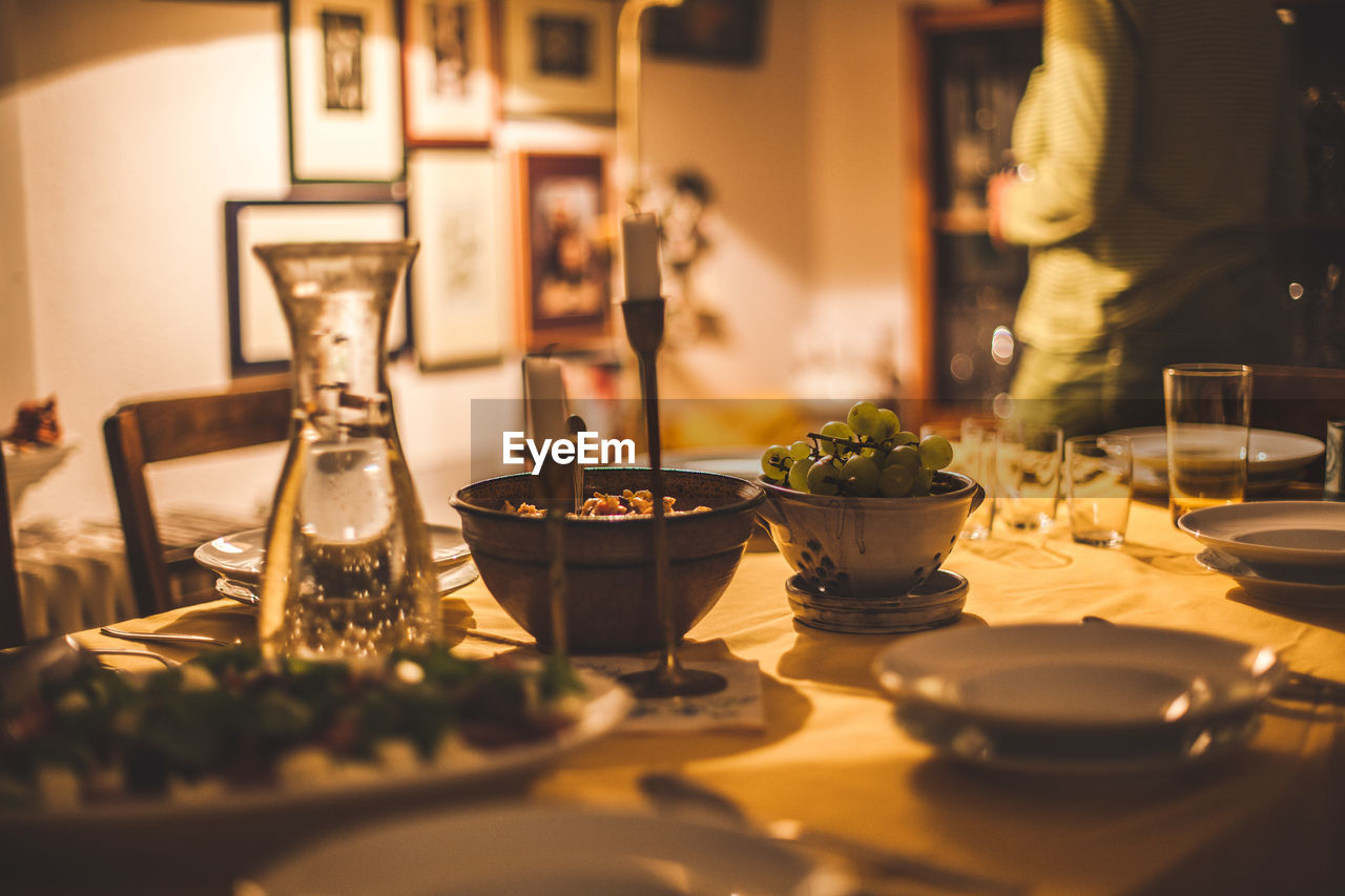 Dinner table at home