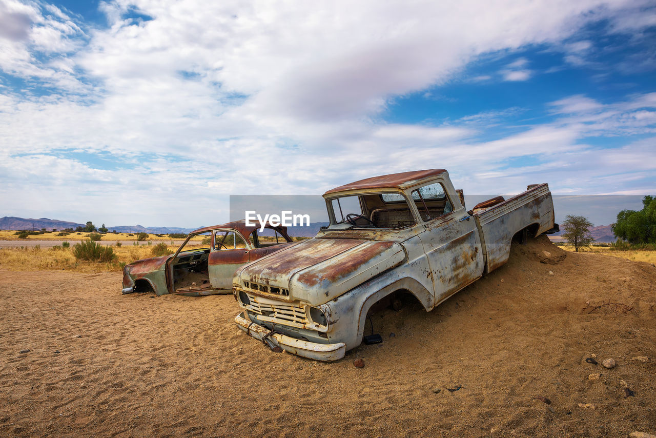ABANDONED CAR ON LAND