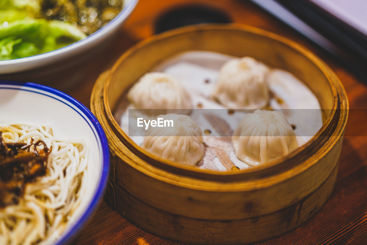 food and drink, food, asian food, chinese food, freshness, healthy eating, chinese dumpling, dumpling, wellbeing, still life, ready-to-eat, table, bowl, no people, dim sum, indoors, close-up, steamed, serving size, japanese food, soy sauce