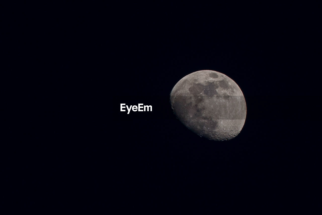 moon, astronomy, space, night, sky, planetary moon, copy space, moon surface, tranquility, beauty in nature, low angle view, nature, no people, scenics - nature, tranquil scene, clear sky, idyllic, discovery, geometric shape, circle, full moon, dark, outdoors, moonlight, space and astronomy