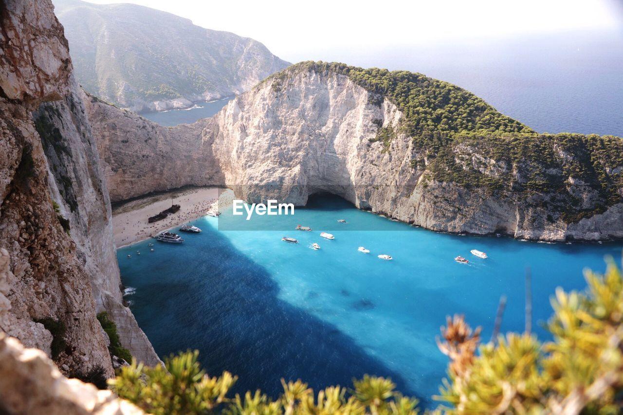 High Angle View Of Zakynthos Island