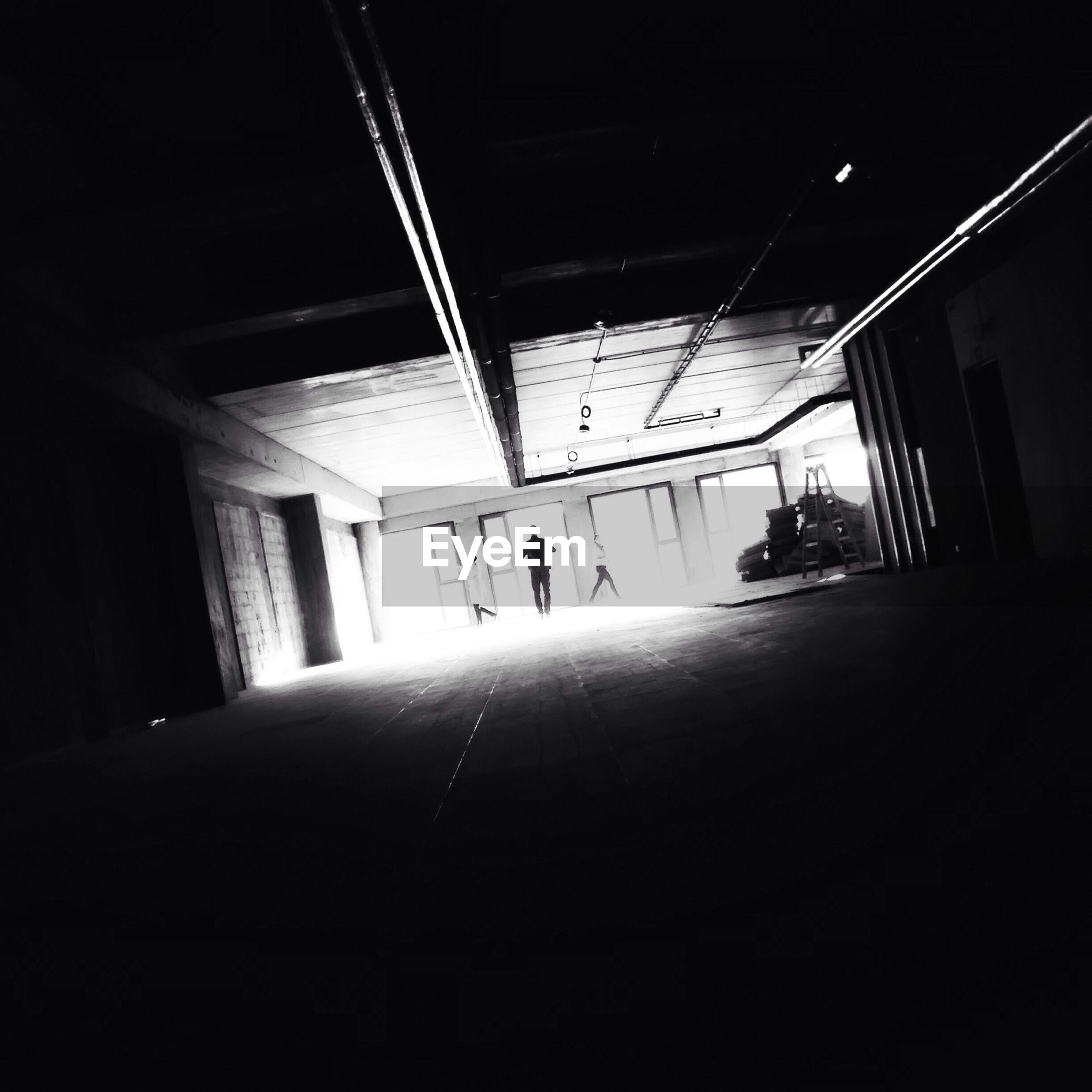 People walking in building