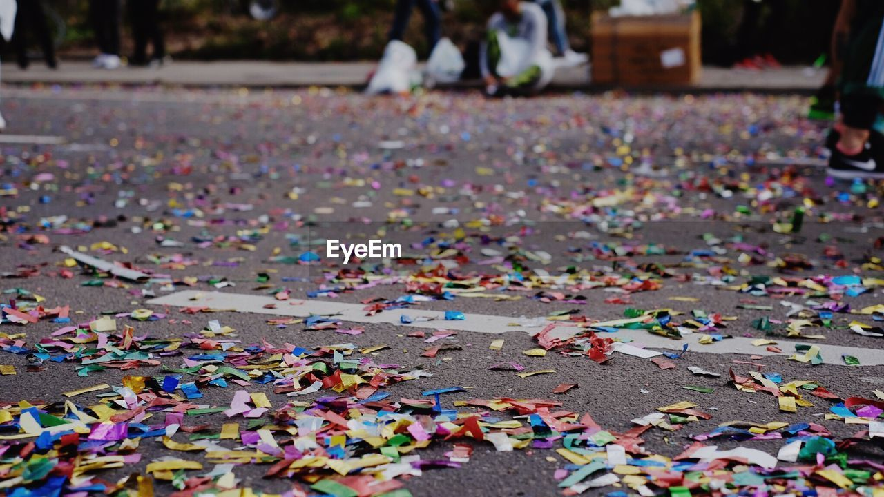 Colorful Confetti On Street