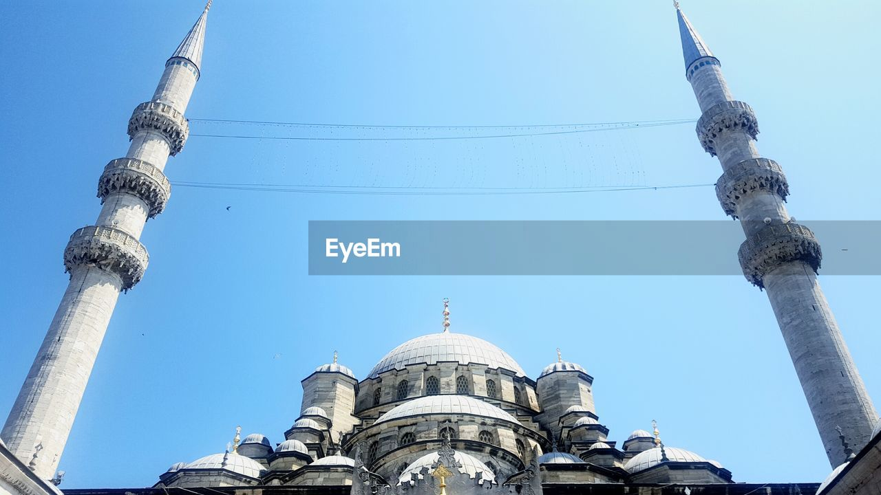 Low angle view of sultan ahmed mosque