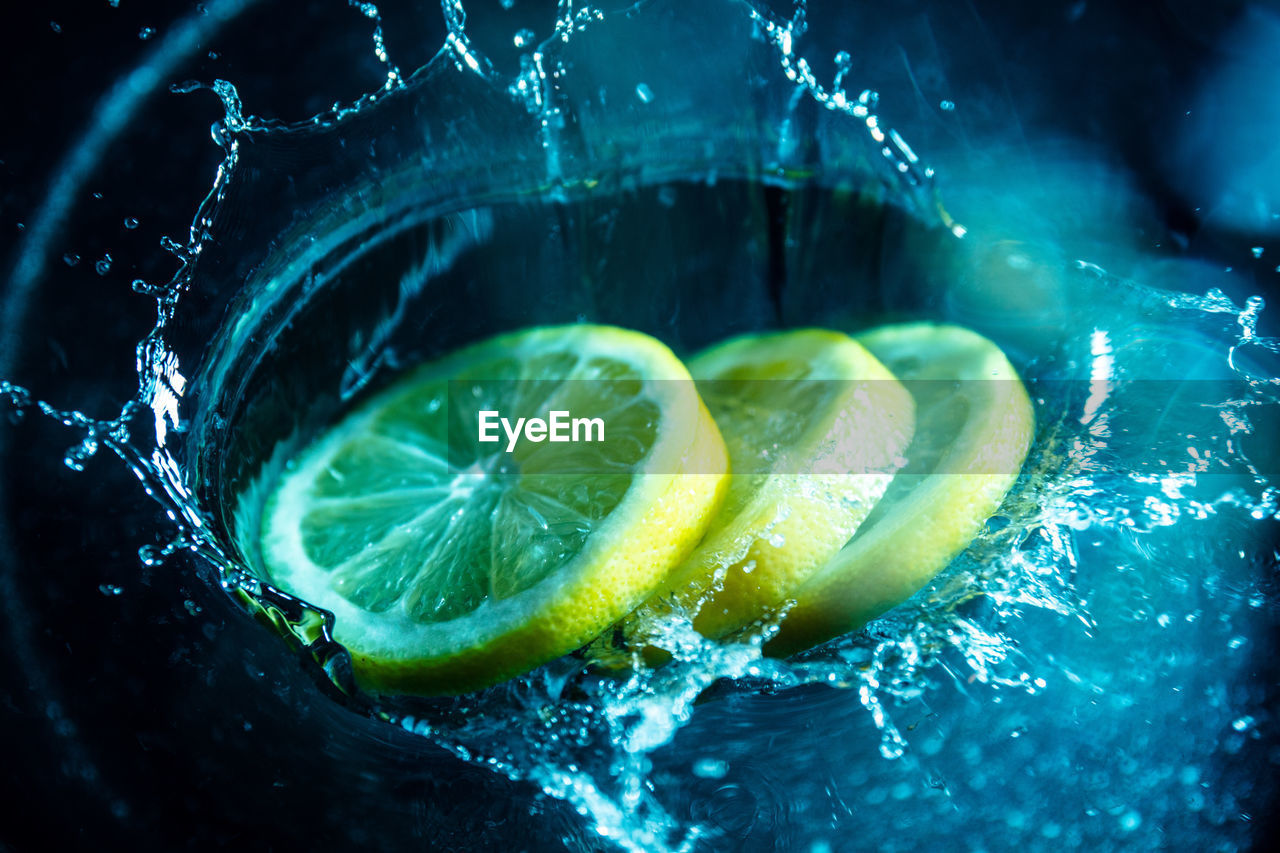 fruit, slice, food and drink, citrus fruit, food, healthy eating, freshness, lemon, close-up, refreshment, no people, wellbeing, lime, drink, indoors, still life, water, glass, nature