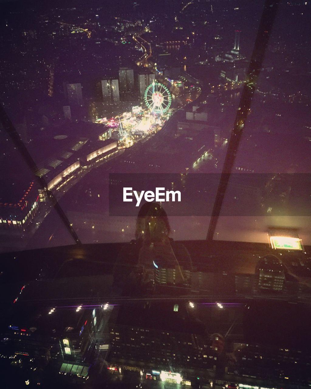 Illuminated Cityscape Seen From Fernsehturm At Night