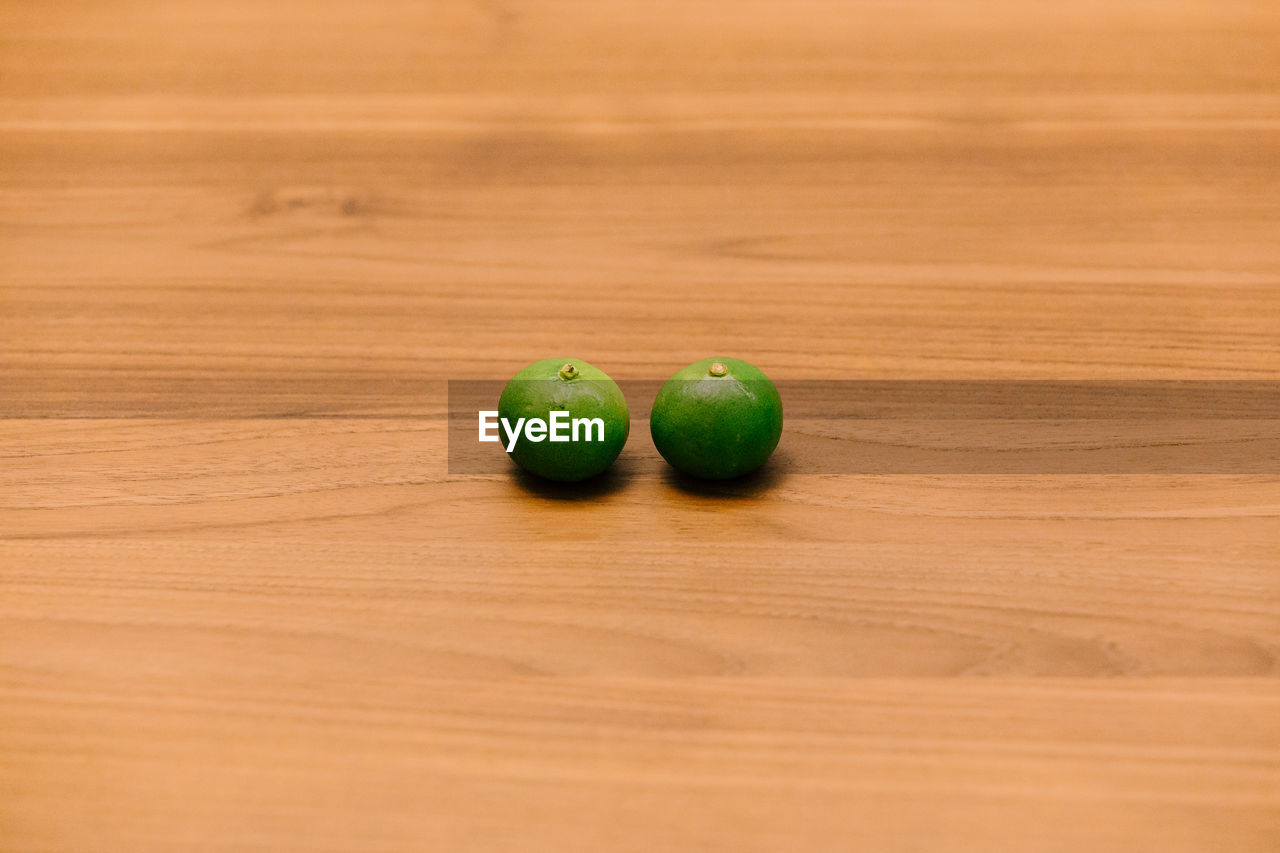Close-Up Of Lime On Table