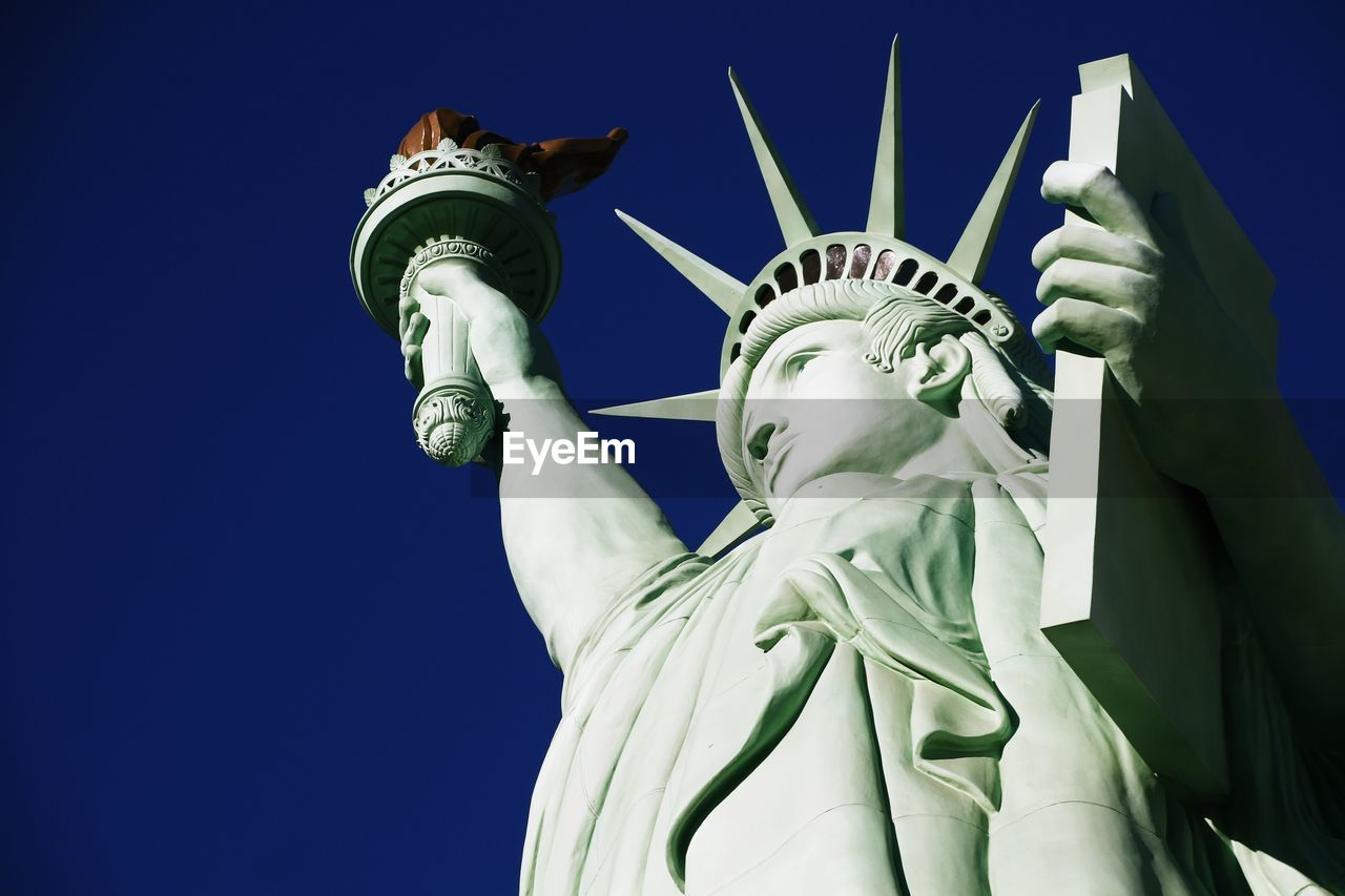 Statue Of Liberty Against Clear Blue Sky