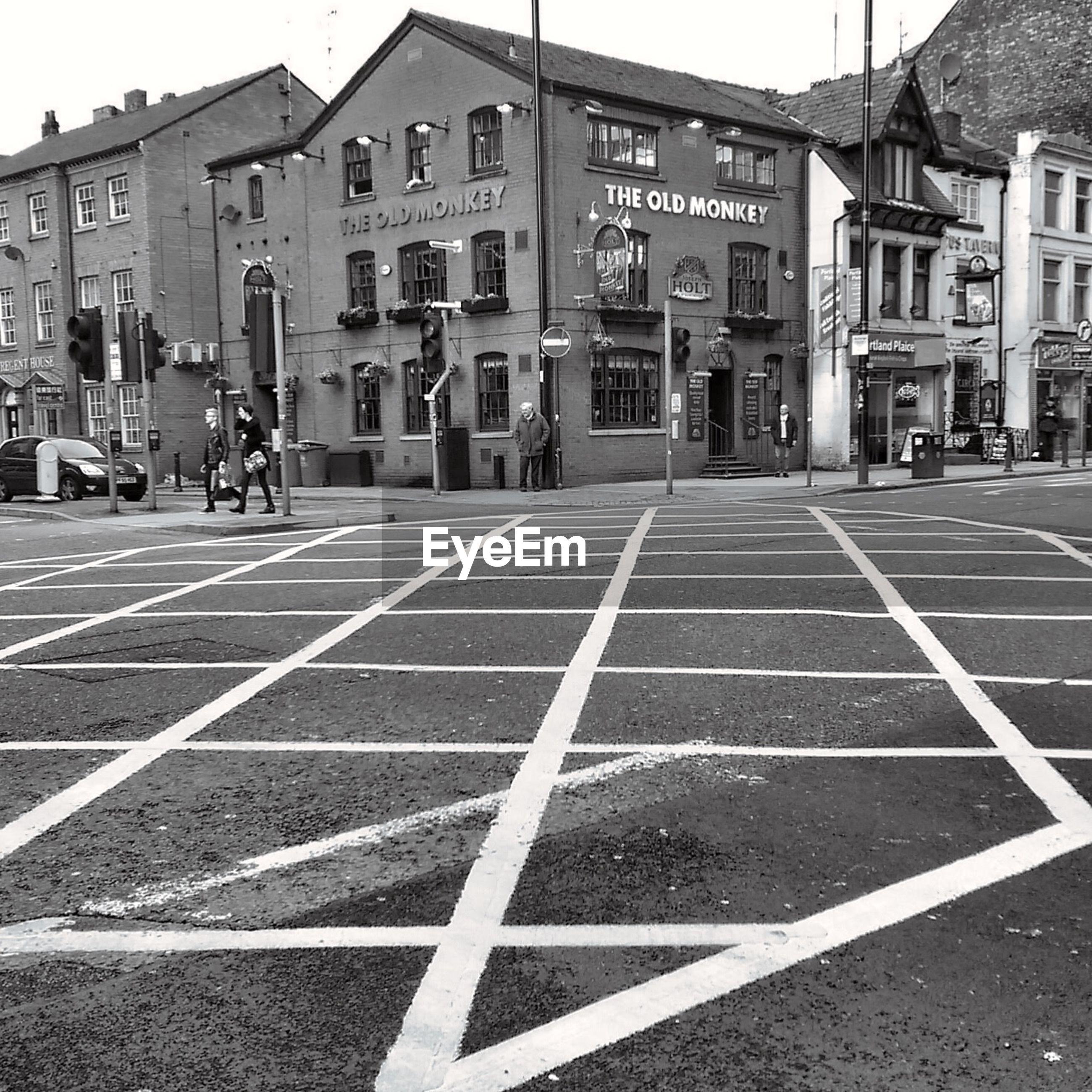 ZEBRA CROSSING ON STREET IN CITY