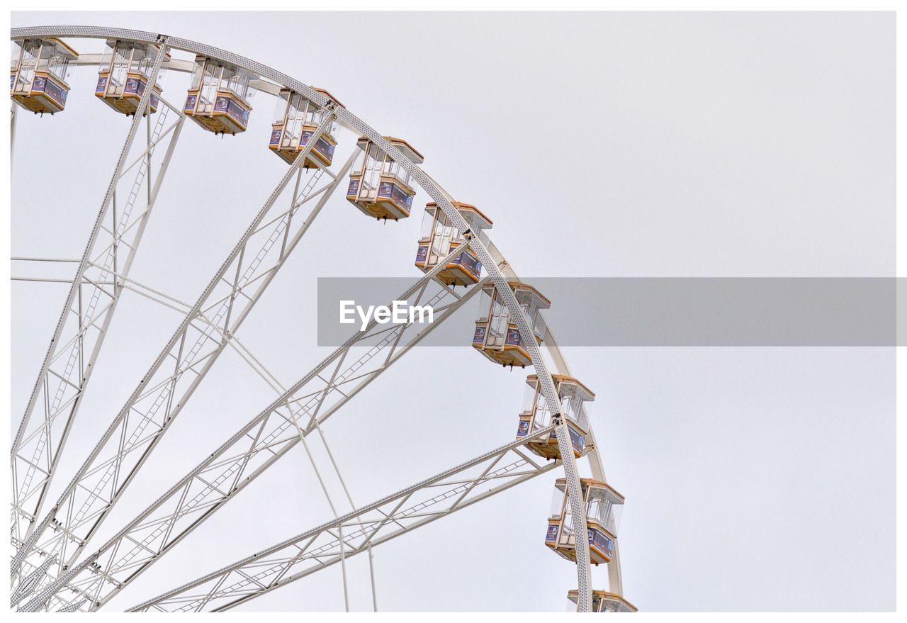 Cropped Ferris Wheel Against Clear Sky