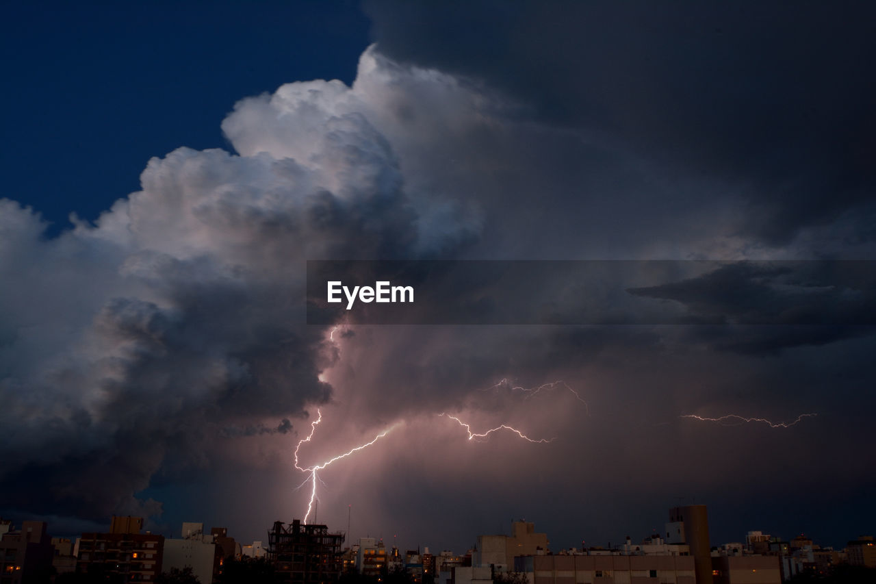 View Of Powerful Lightning Storm