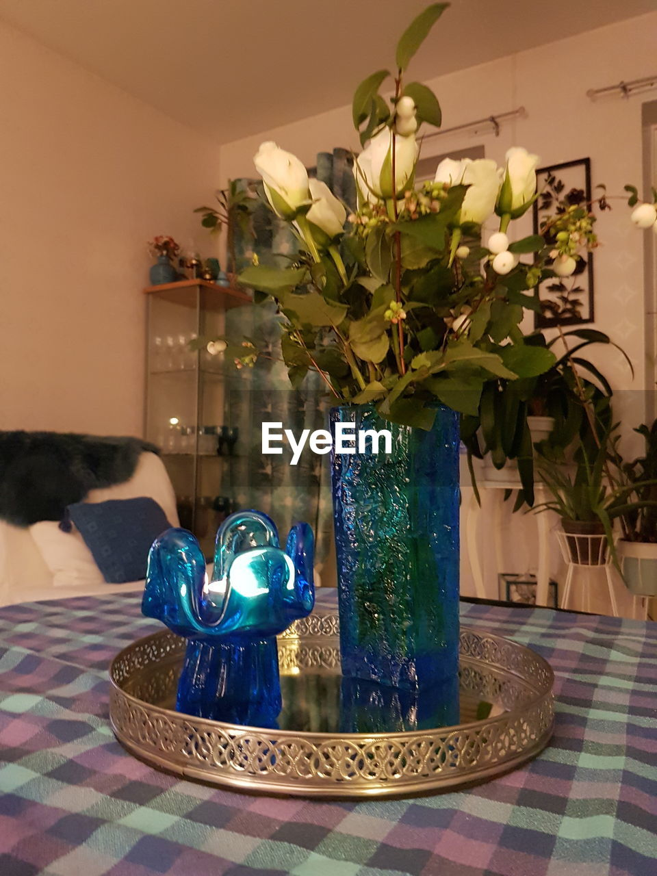 vase, indoors, table, no people, celebration, flower, home interior, illuminated, close-up, day