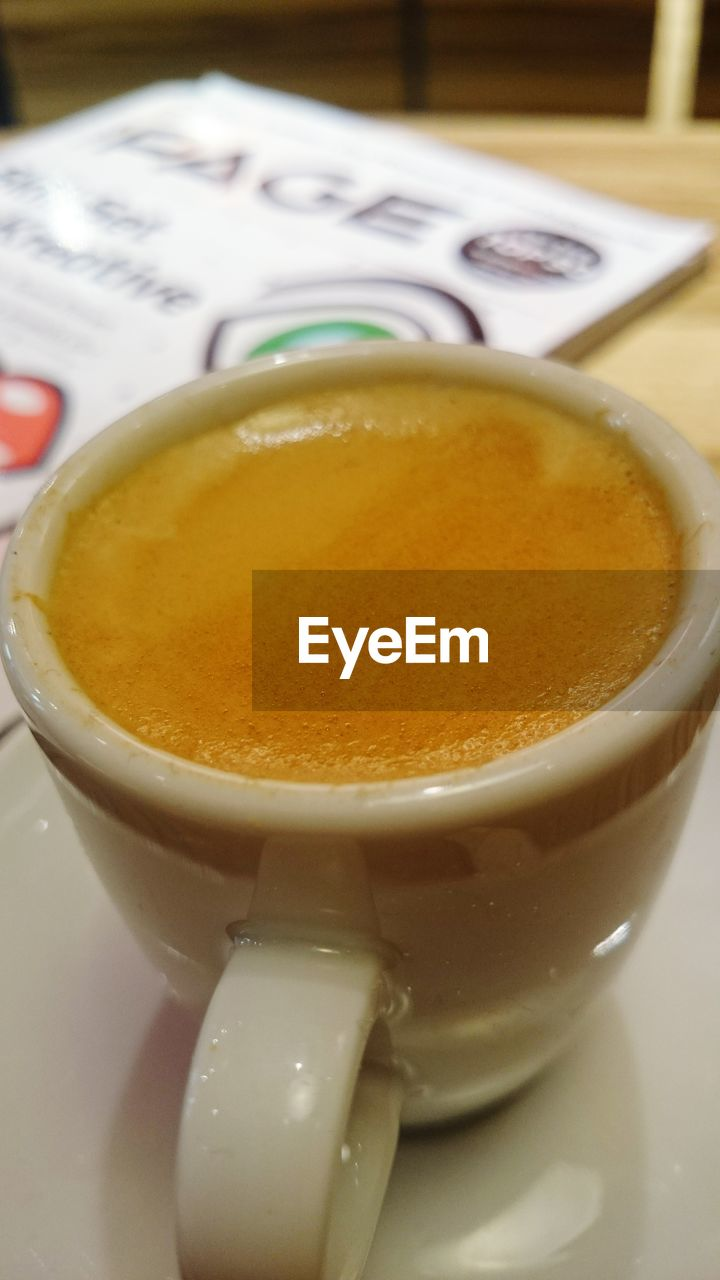 food and drink, refreshment, drink, coffee cup, close-up, coffee - drink, no people, freshness, table, indoors, frothy drink, food, healthy eating, day