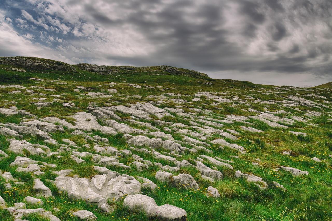 Bedrock formation high in montenegro mountain durmitor.