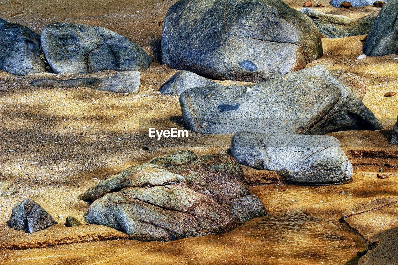 beach, rock - object, sand, nature, no people, outdoors, day, close-up