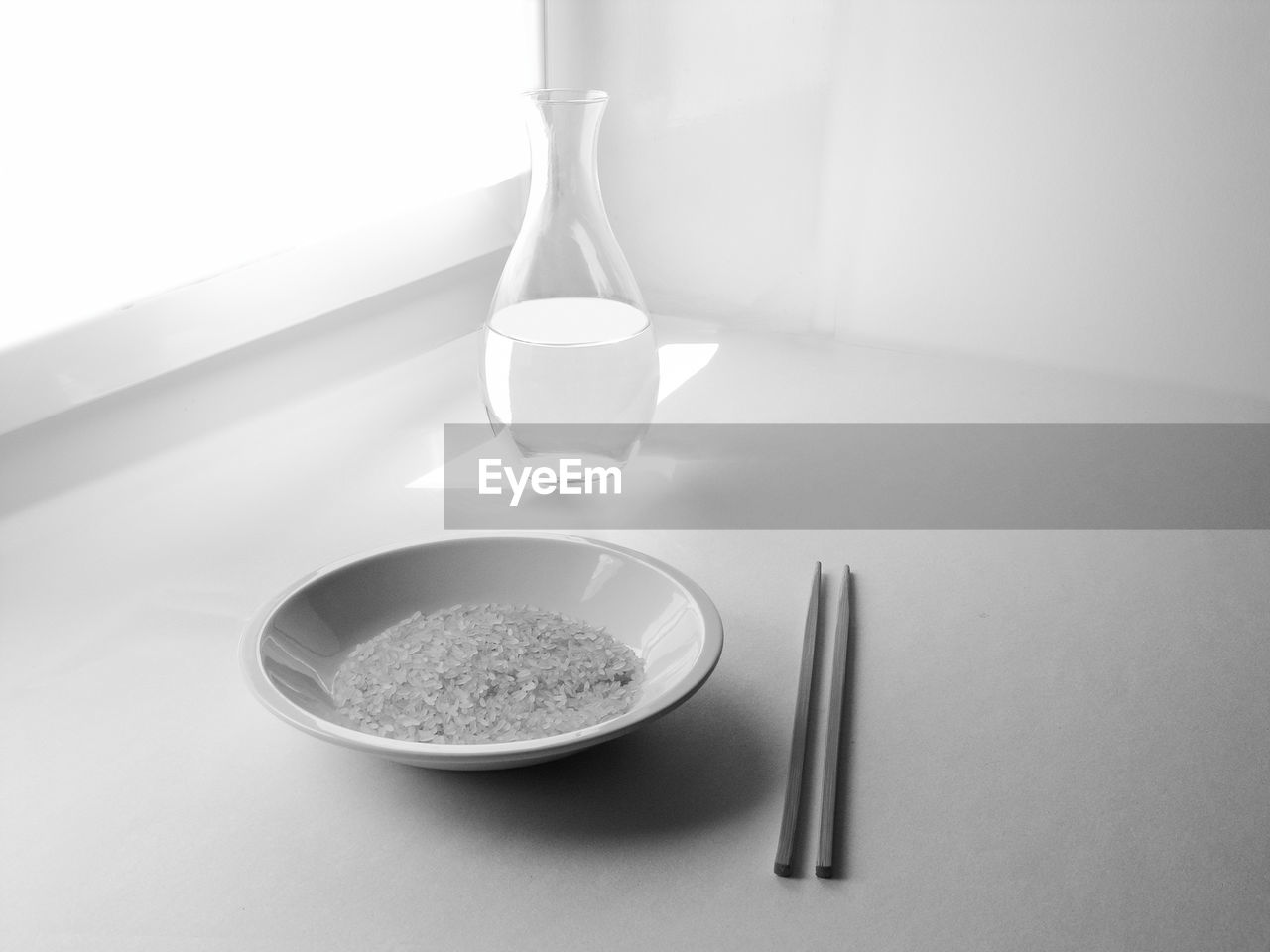 food and drink, indoors, table, no people, household equipment, still life, food, kitchen utensil, white background, bowl, eating utensil, close-up, studio shot, high angle view, healthy eating, glass - material, spoon, glass, freshness, plate, table knife, steel