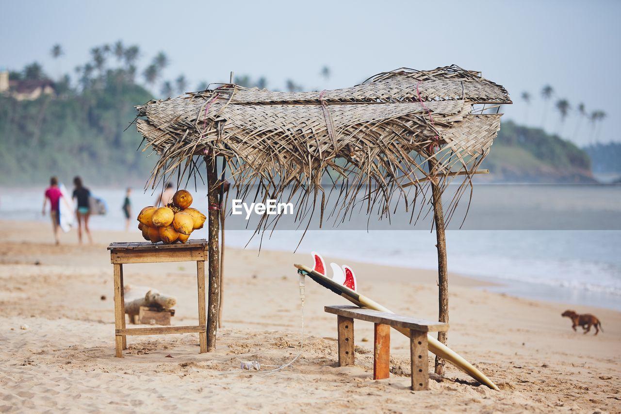 Hut at beach