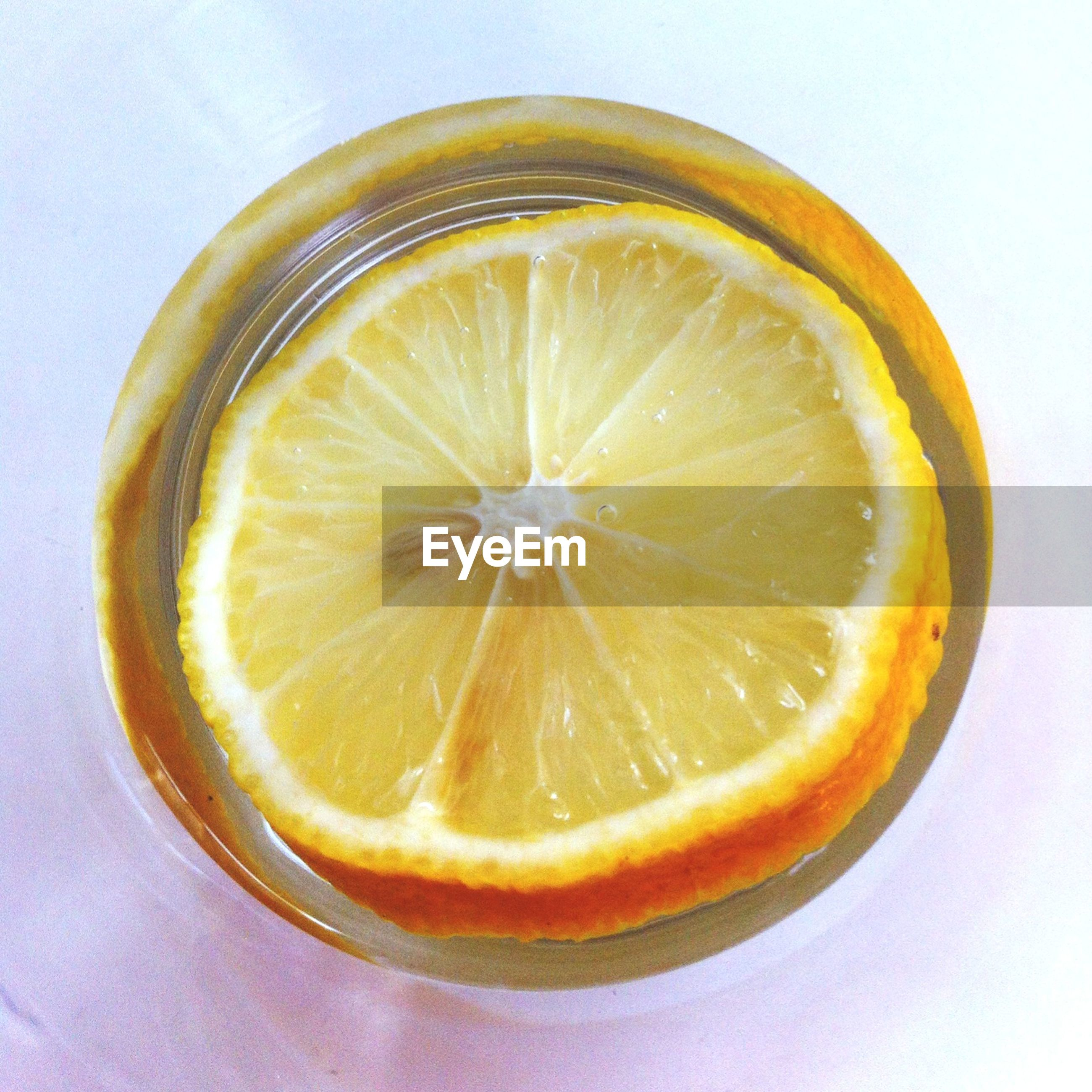High angle view of lemon in bowl