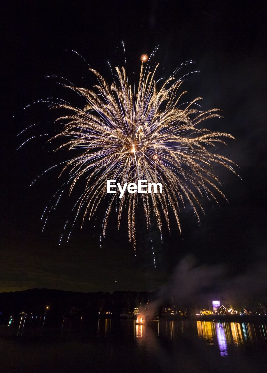 Low Angle View Of Illuminated Firework Display