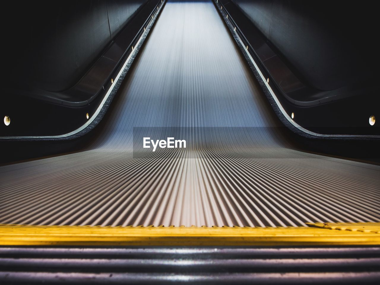 Empty Moving Walkway In Guthrie Theater