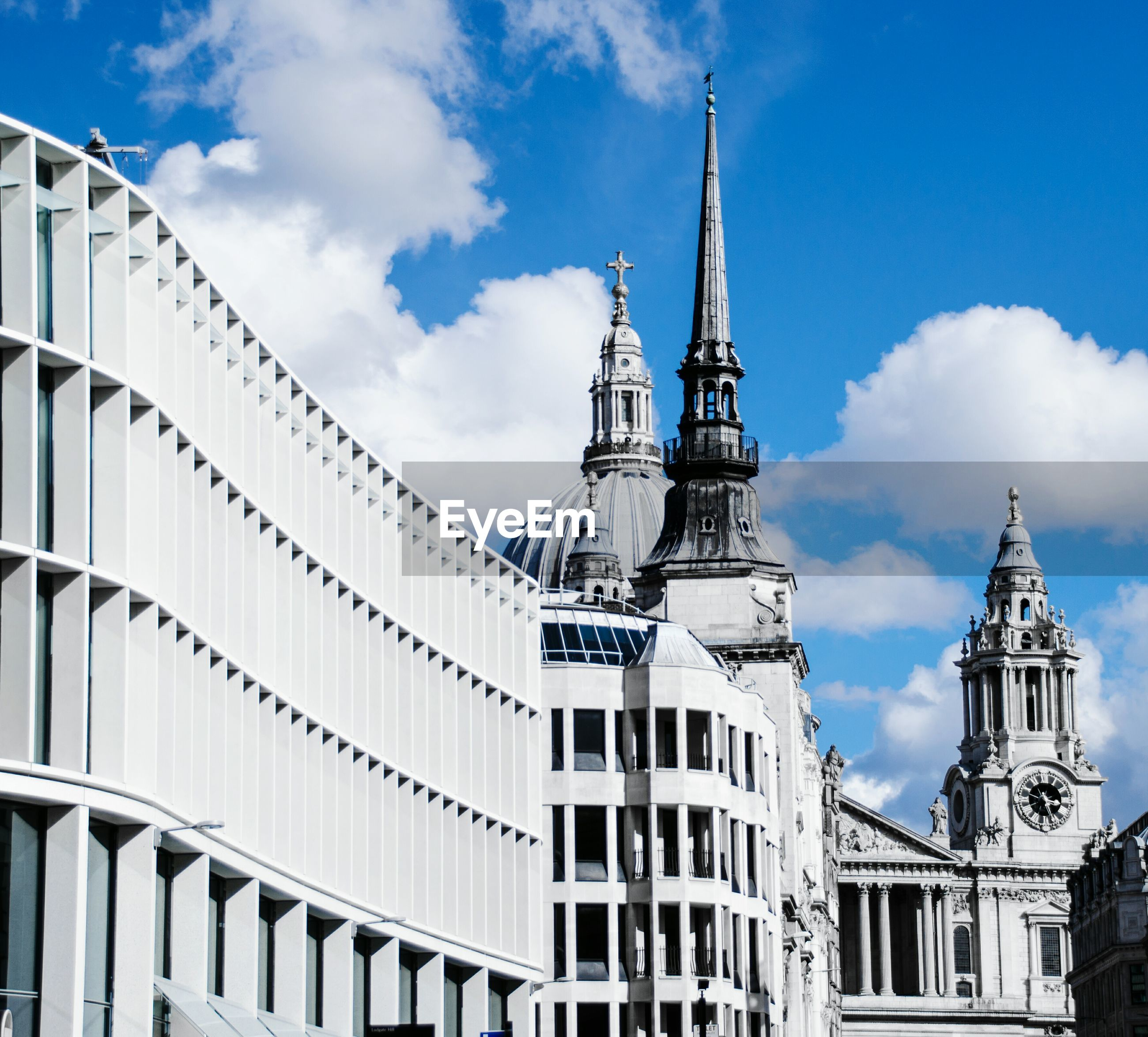 Low angle view of st paul cathedral against sky